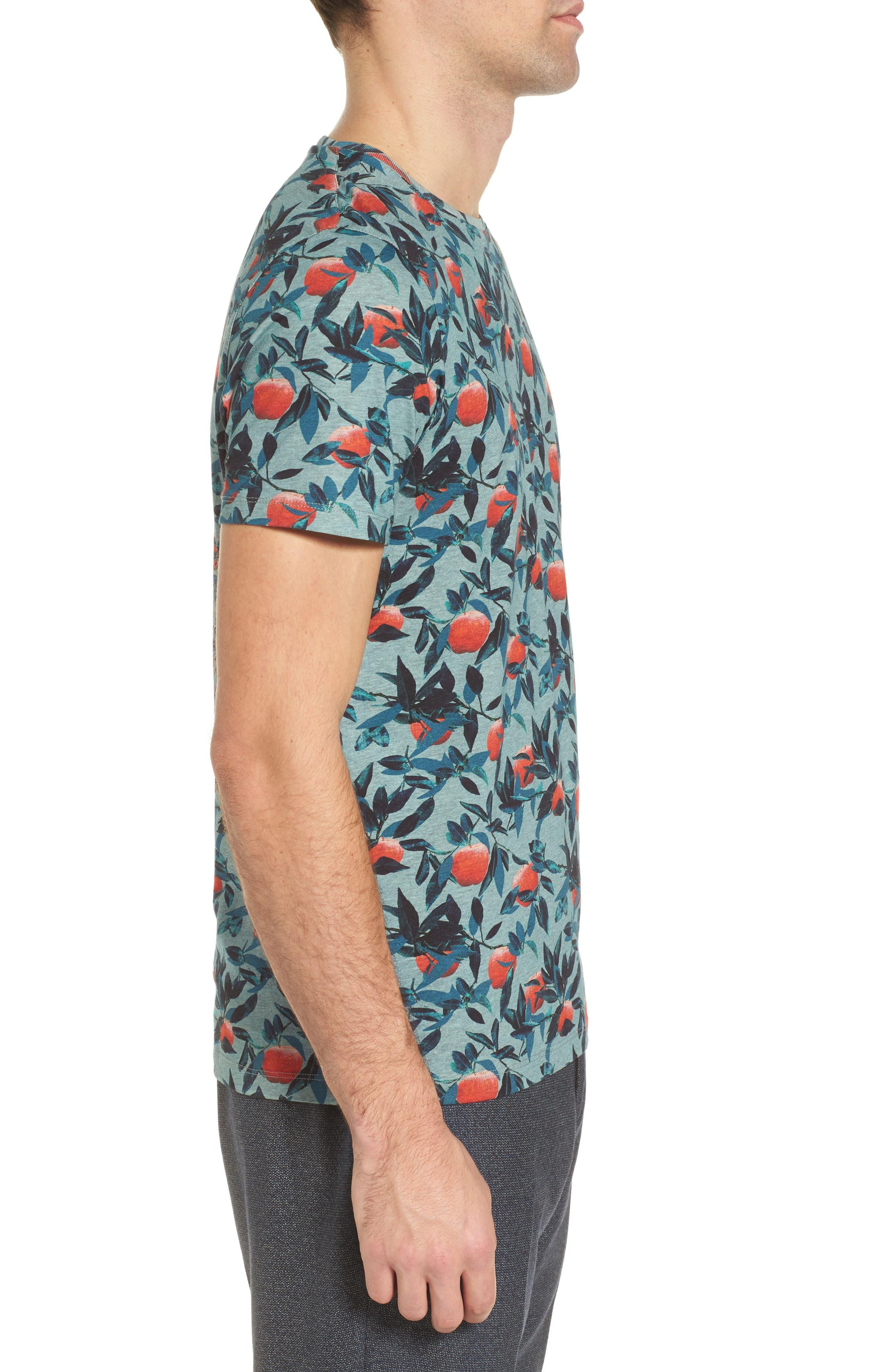 Fithe Apple Print T-Shirt,                             Alternate thumbnail 3, color,                             Light Blue