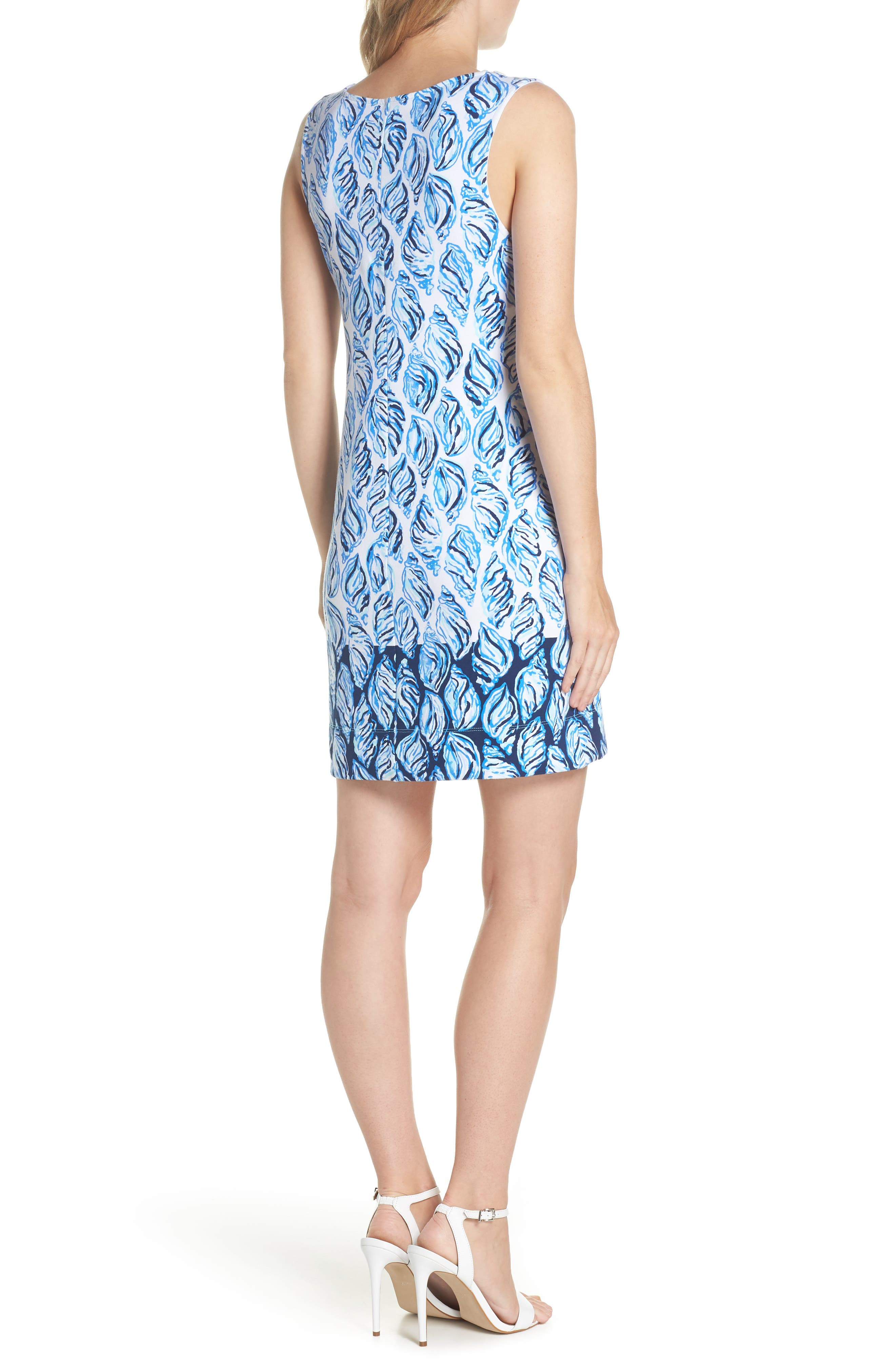 Harper Shift Dress,                             Alternate thumbnail 2, color,                             Resort White Drop In