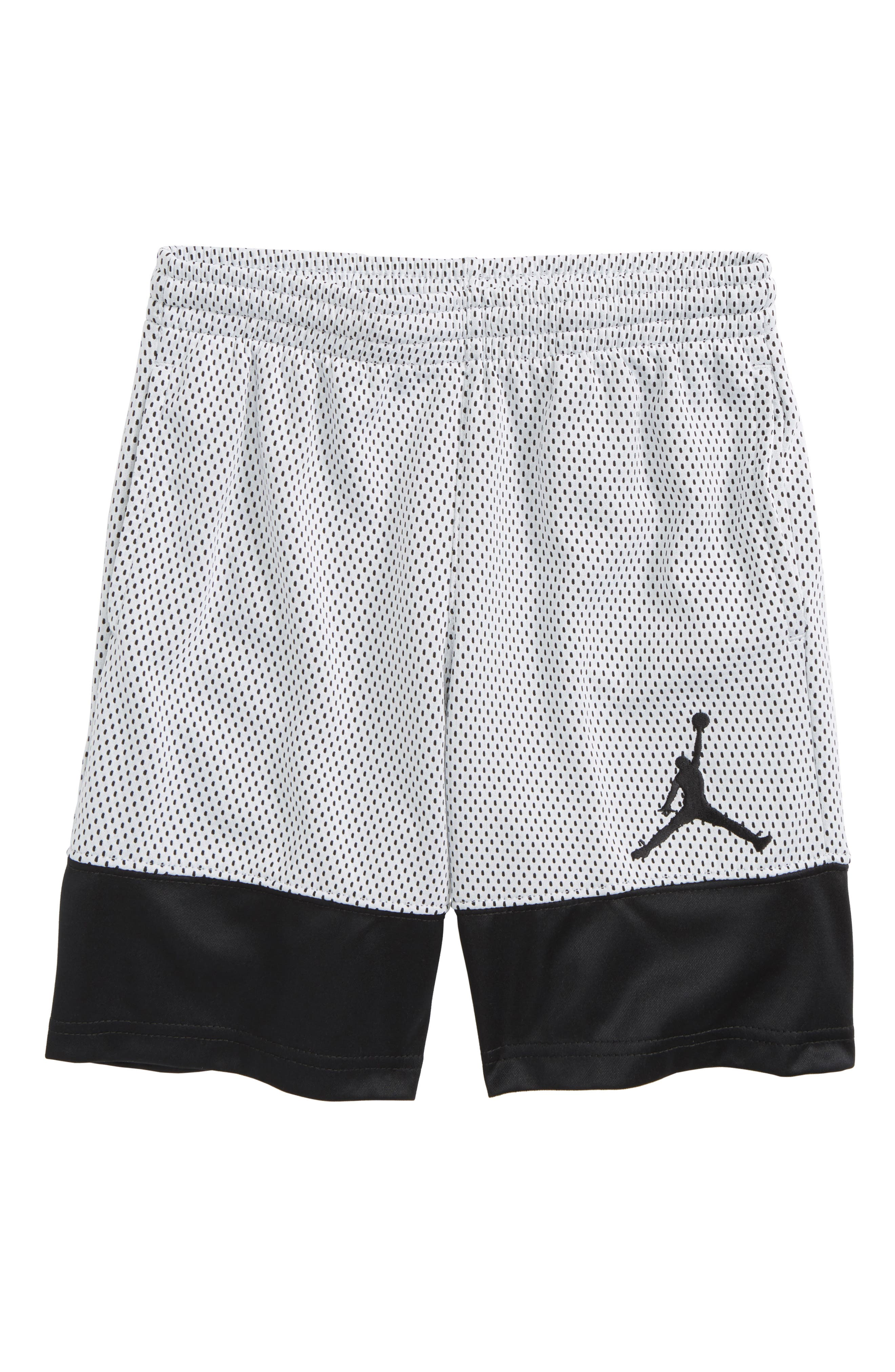 Jordan '90s Mesh Shorts,                             Main thumbnail 1, color,                             Black/ White
