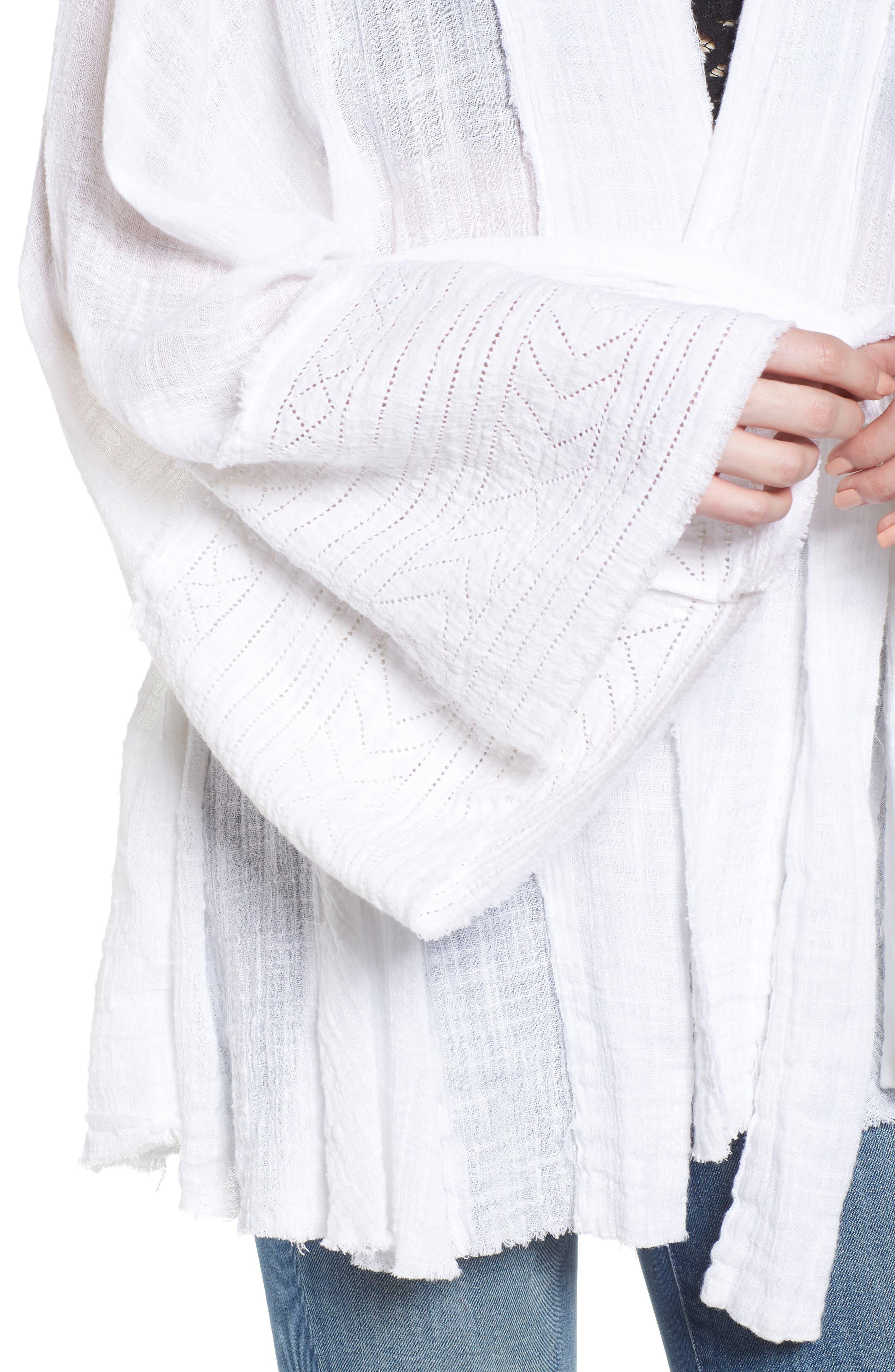 Tie Wrap Kimono,                             Alternate thumbnail 4, color,                             Ivory