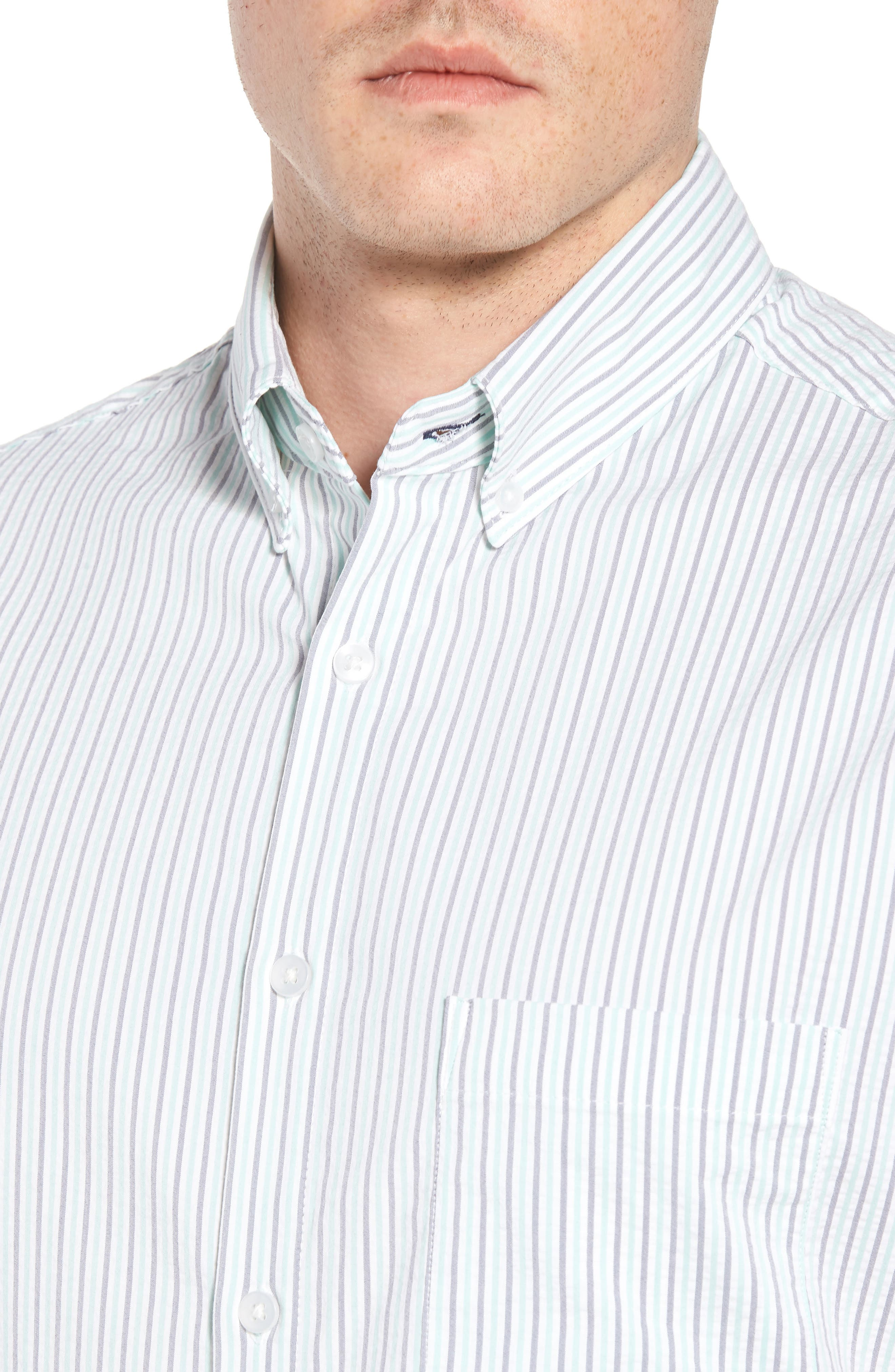 Eastland Short Sleeve Sport Shirt,                             Alternate thumbnail 2, color,                             Green
