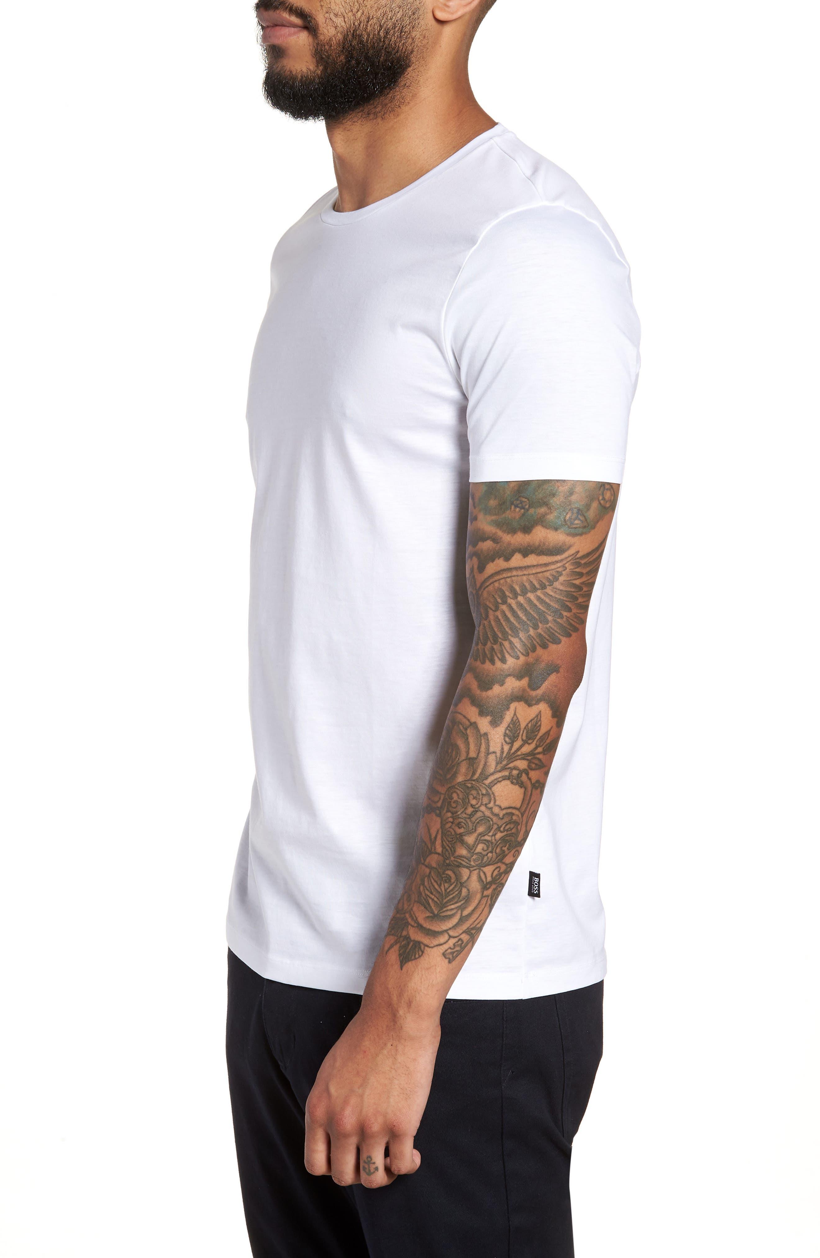 Tessler Crewneck T-Shirt,                             Alternate thumbnail 3, color,                             White