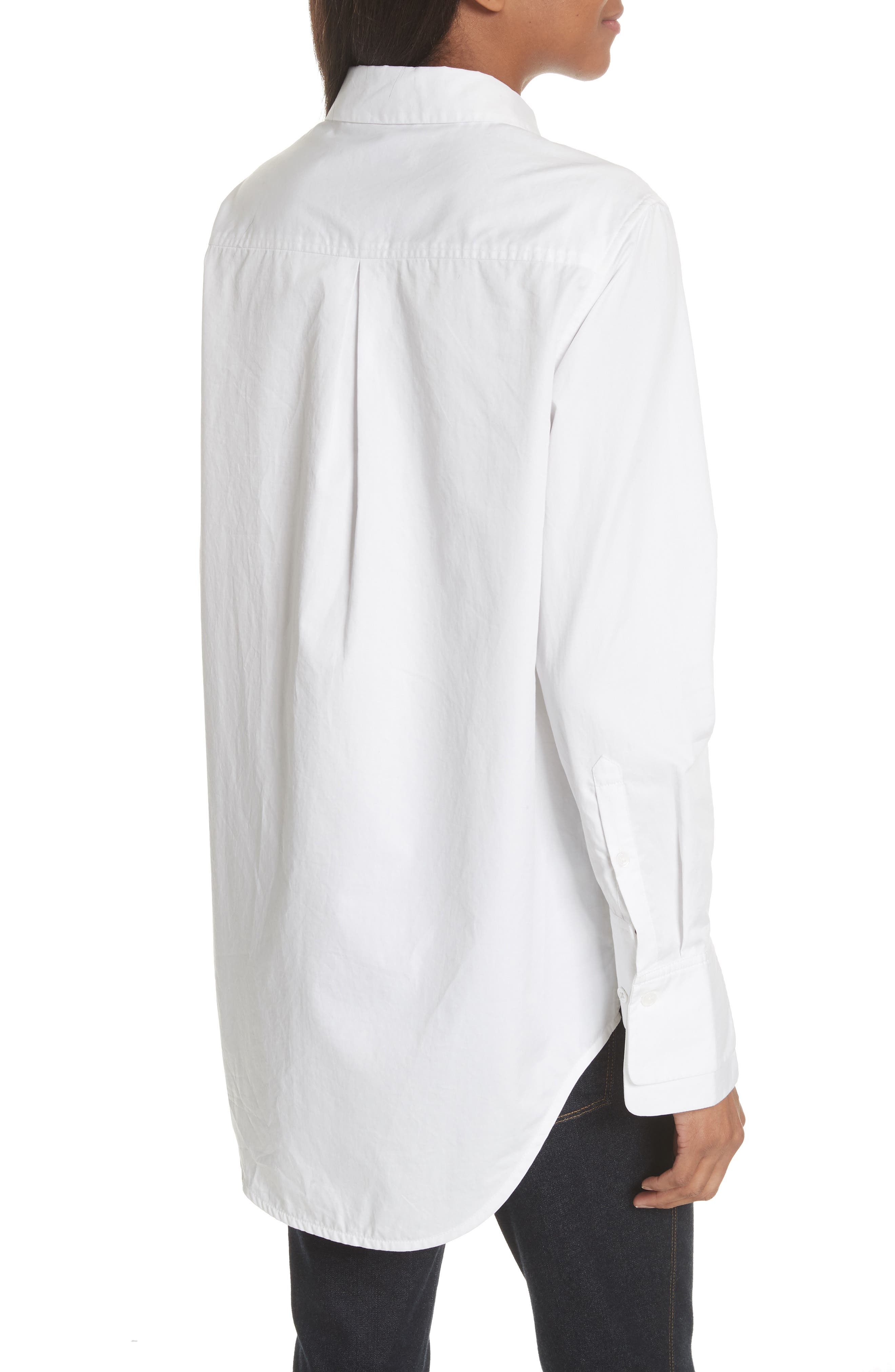 Essential Layered Split Cuff Blouse,                             Alternate thumbnail 2, color,                             Bright White