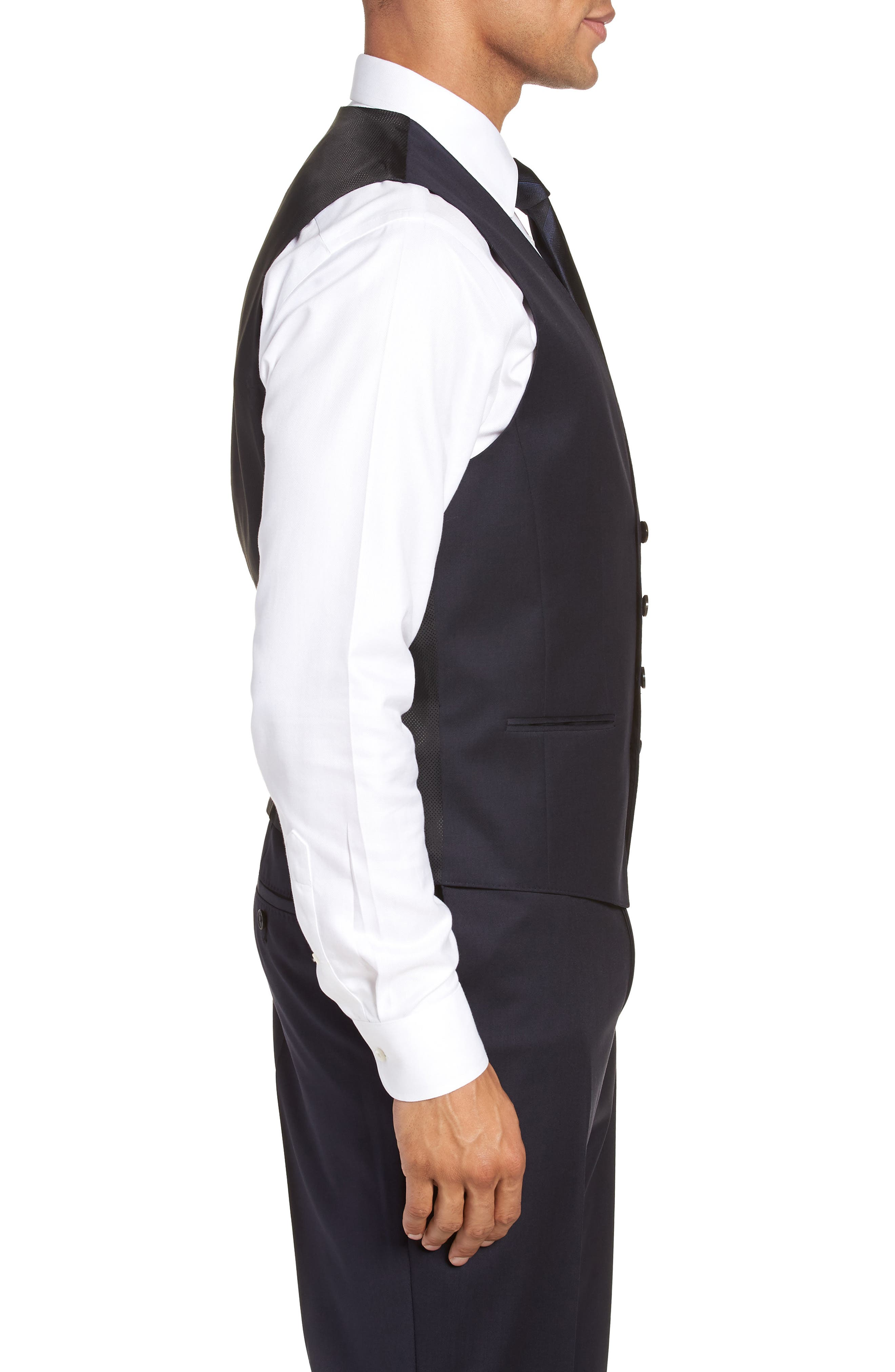 Wilson CYL Trim Fit Vest,                             Alternate thumbnail 3, color,                             Dark Blue