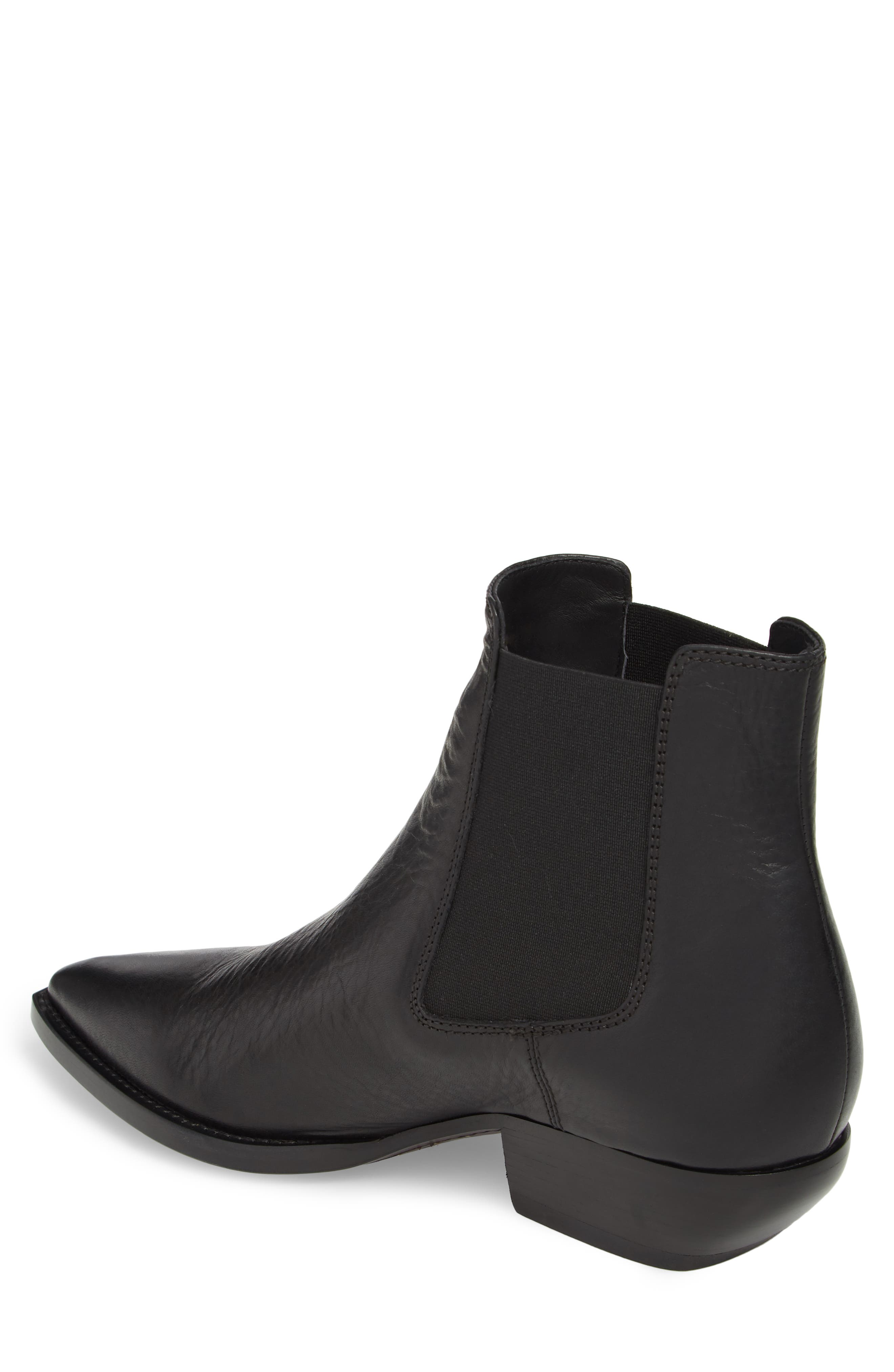 Theo 40 Chelsea Boot,                             Alternate thumbnail 2, color,                             Black Leather
