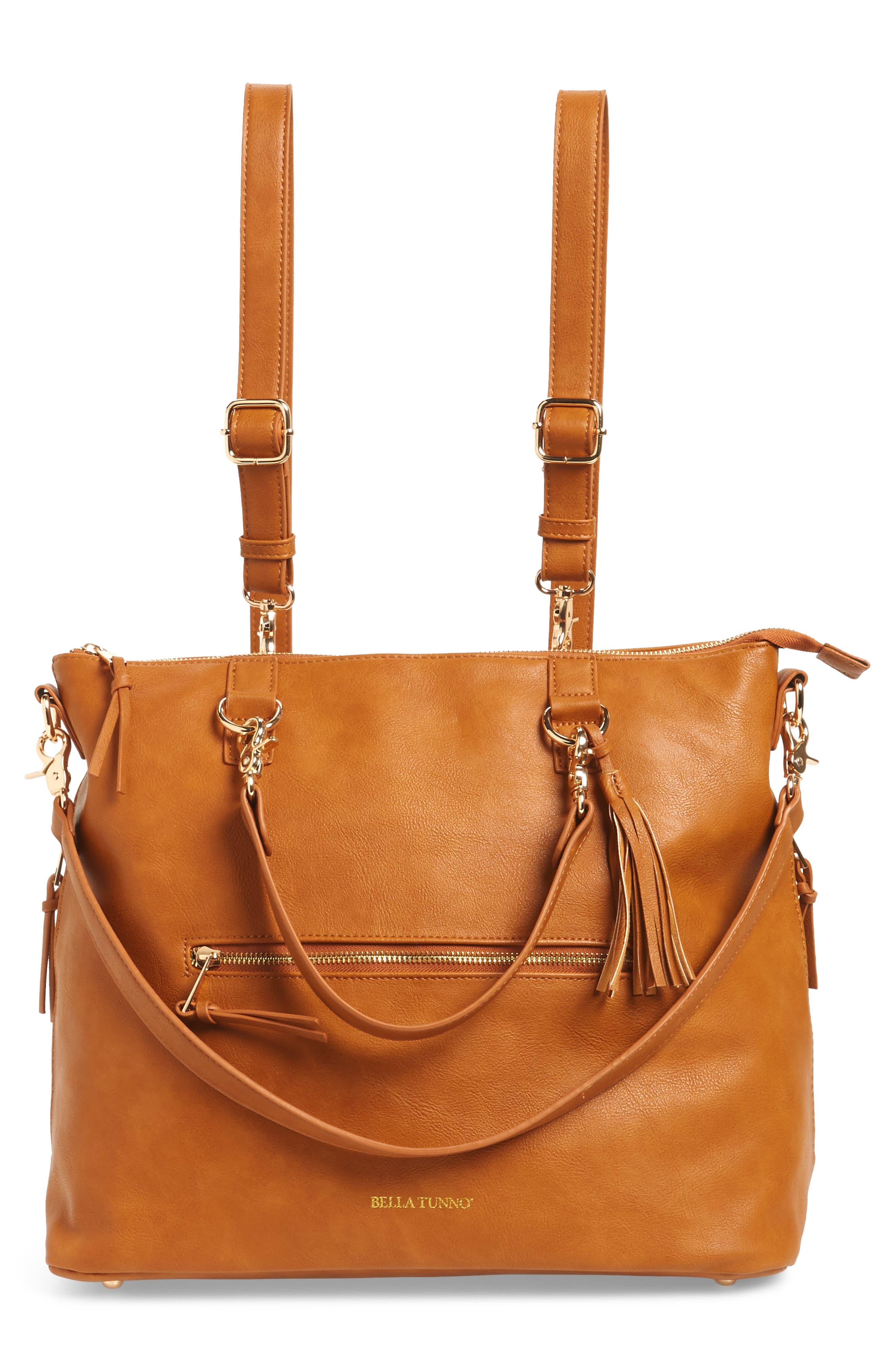 Boss Bag Convertible Diaper Backpack,                         Main,                         color, Cognac