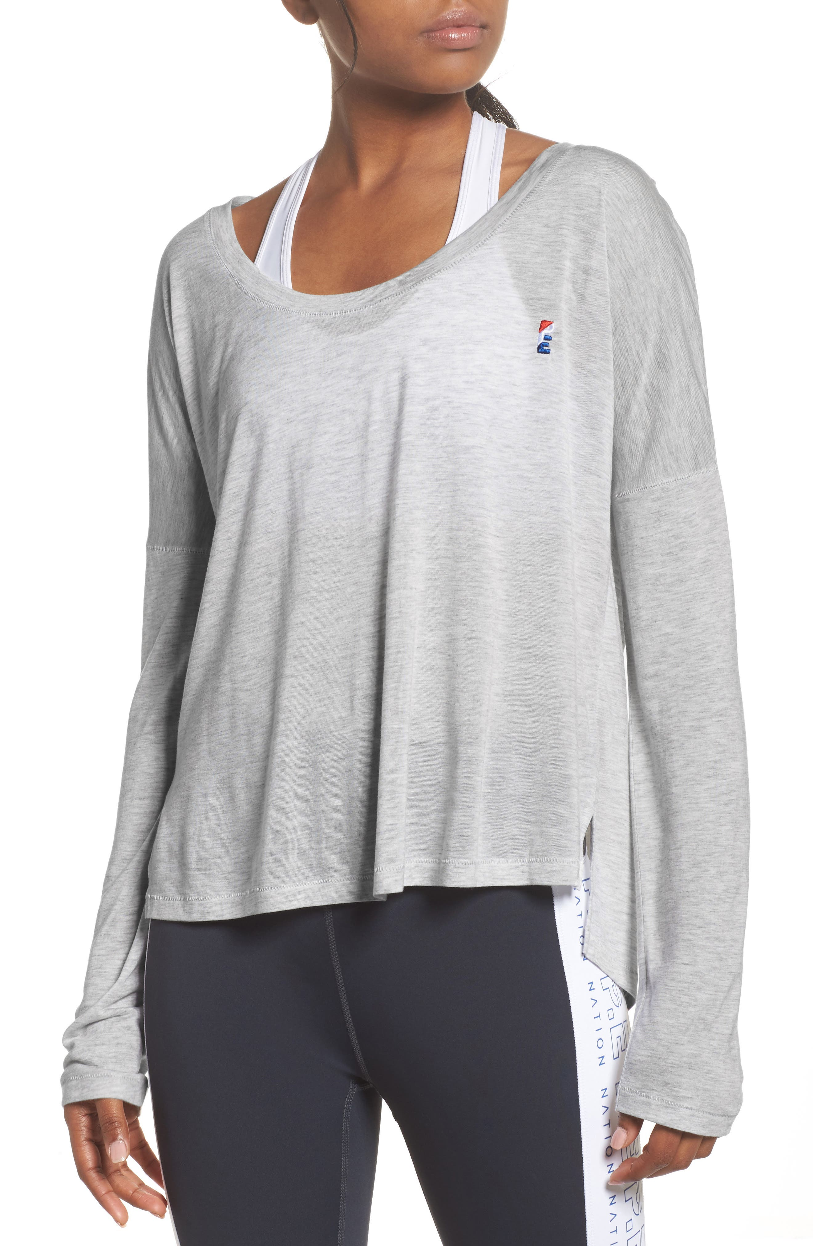 Cool Running Top,                         Main,                         color, Grey Marle