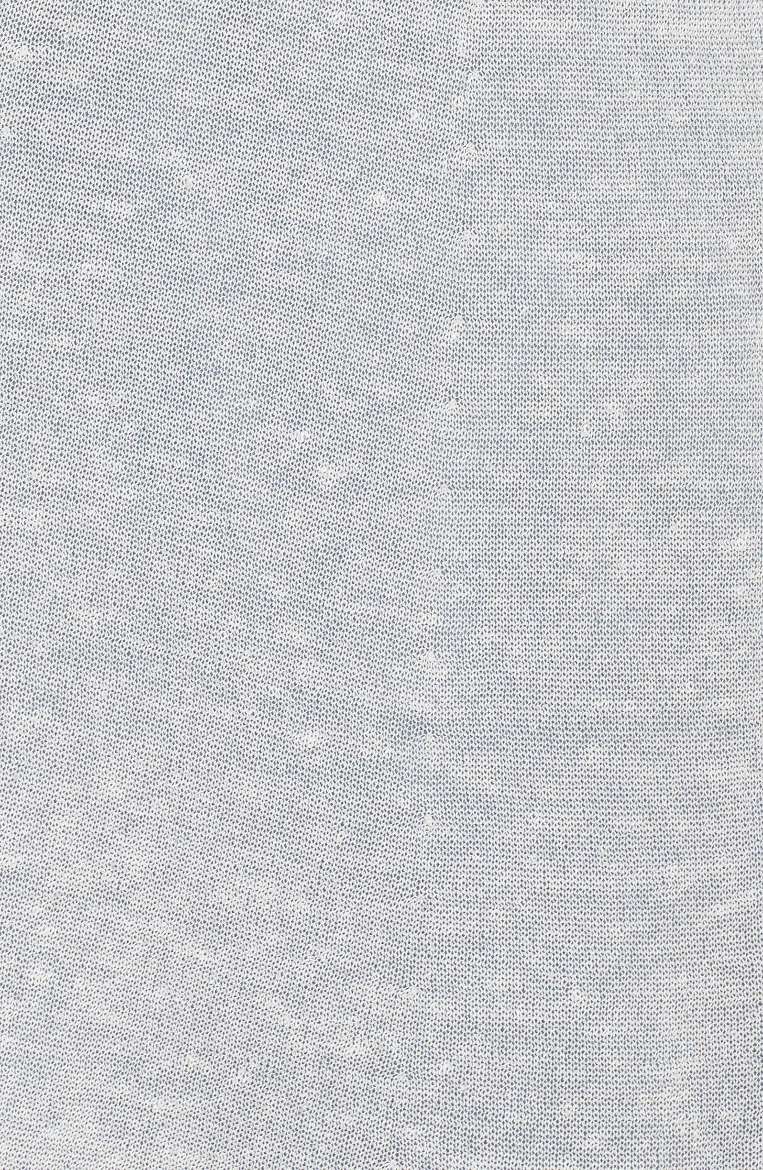 Long Organic Linen Blend Cardigan,                             Alternate thumbnail 6, color,                             Bone