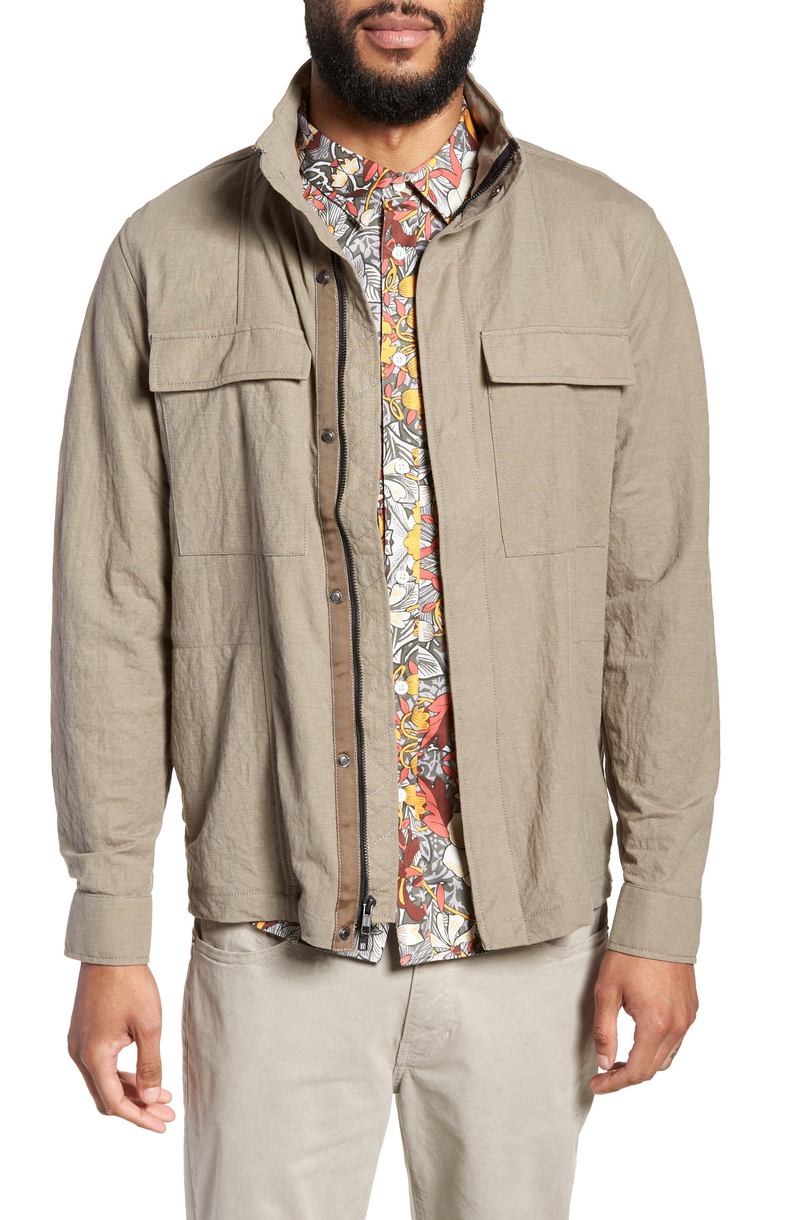 Trim Fit Jacket,                             Main thumbnail 1, color,                             Taupe