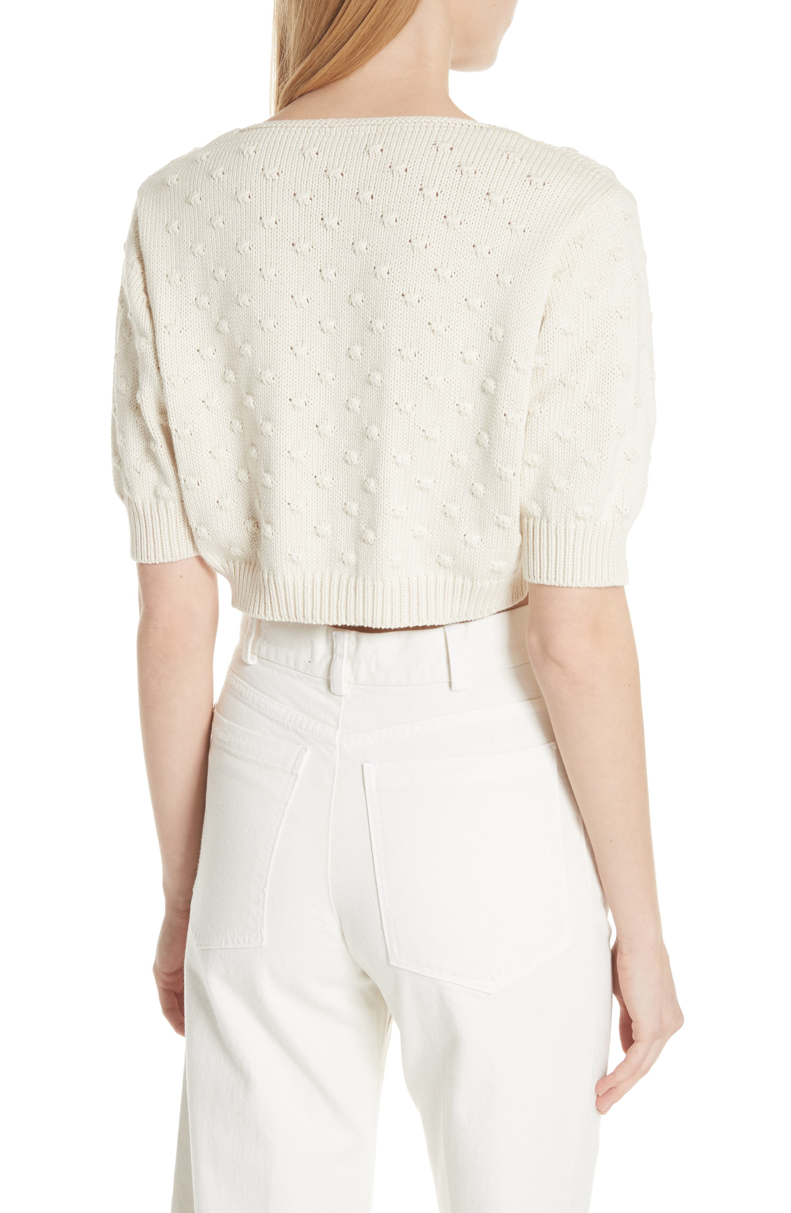 Ode Garbanzo Knit Crop Sweater,                             Alternate thumbnail 2, color,                             Ivory