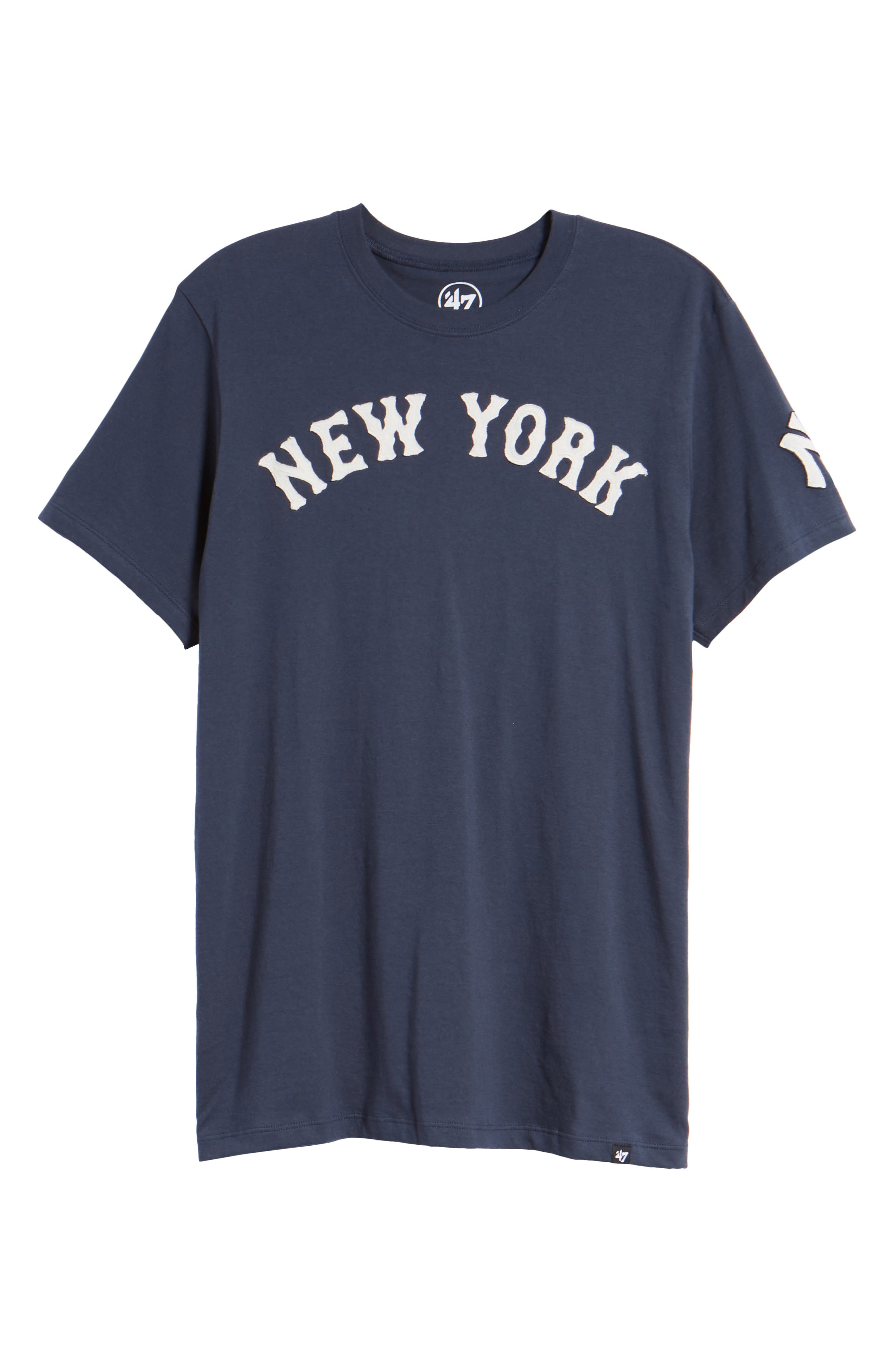 MLB Vintage Fieldhouse New York Yankees T-Shirt,                             Alternate thumbnail 6, color,                             Midnight