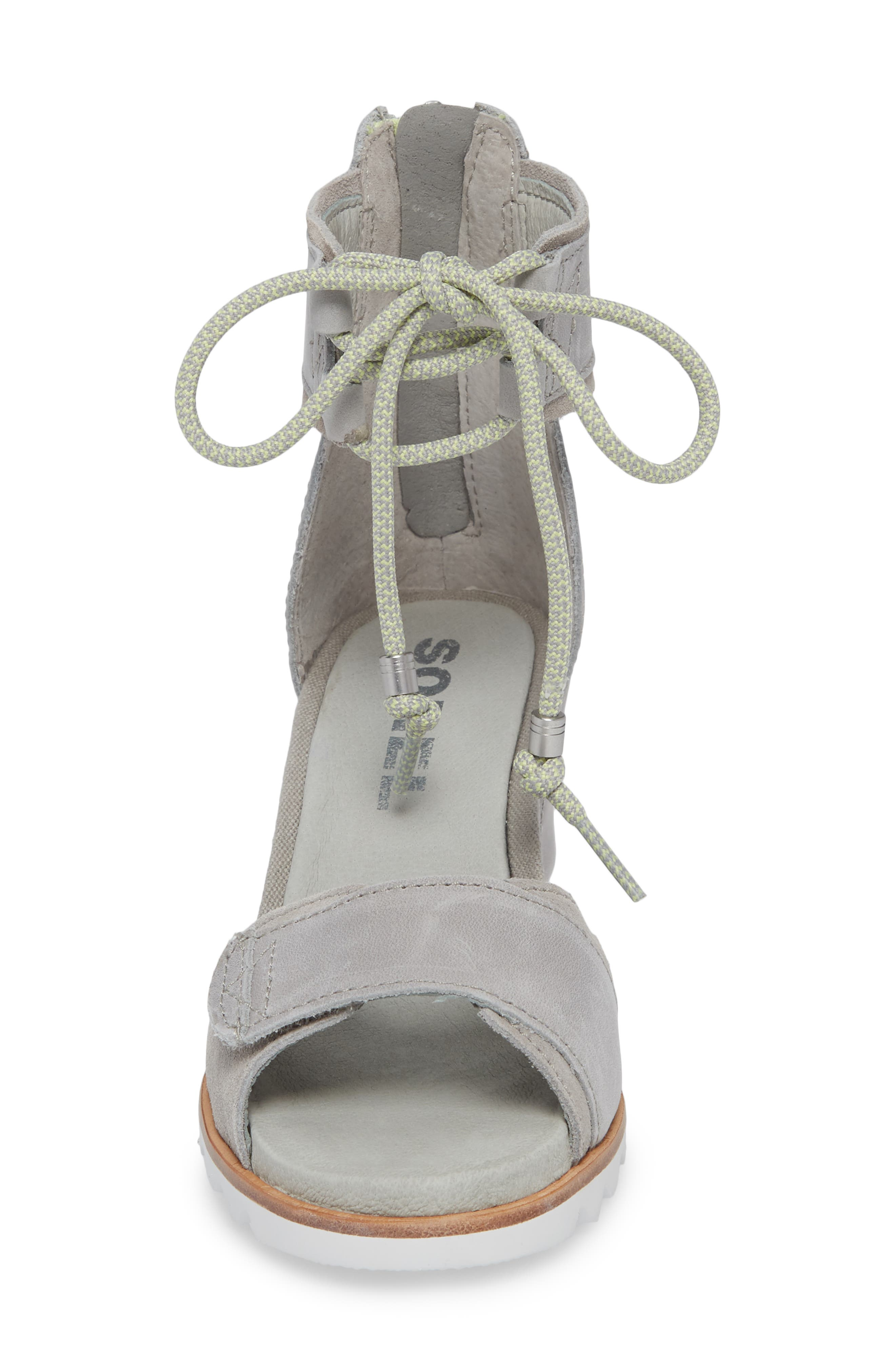 Joanie Cuff Wedge Sandal,                             Alternate thumbnail 4, color,                             Dove