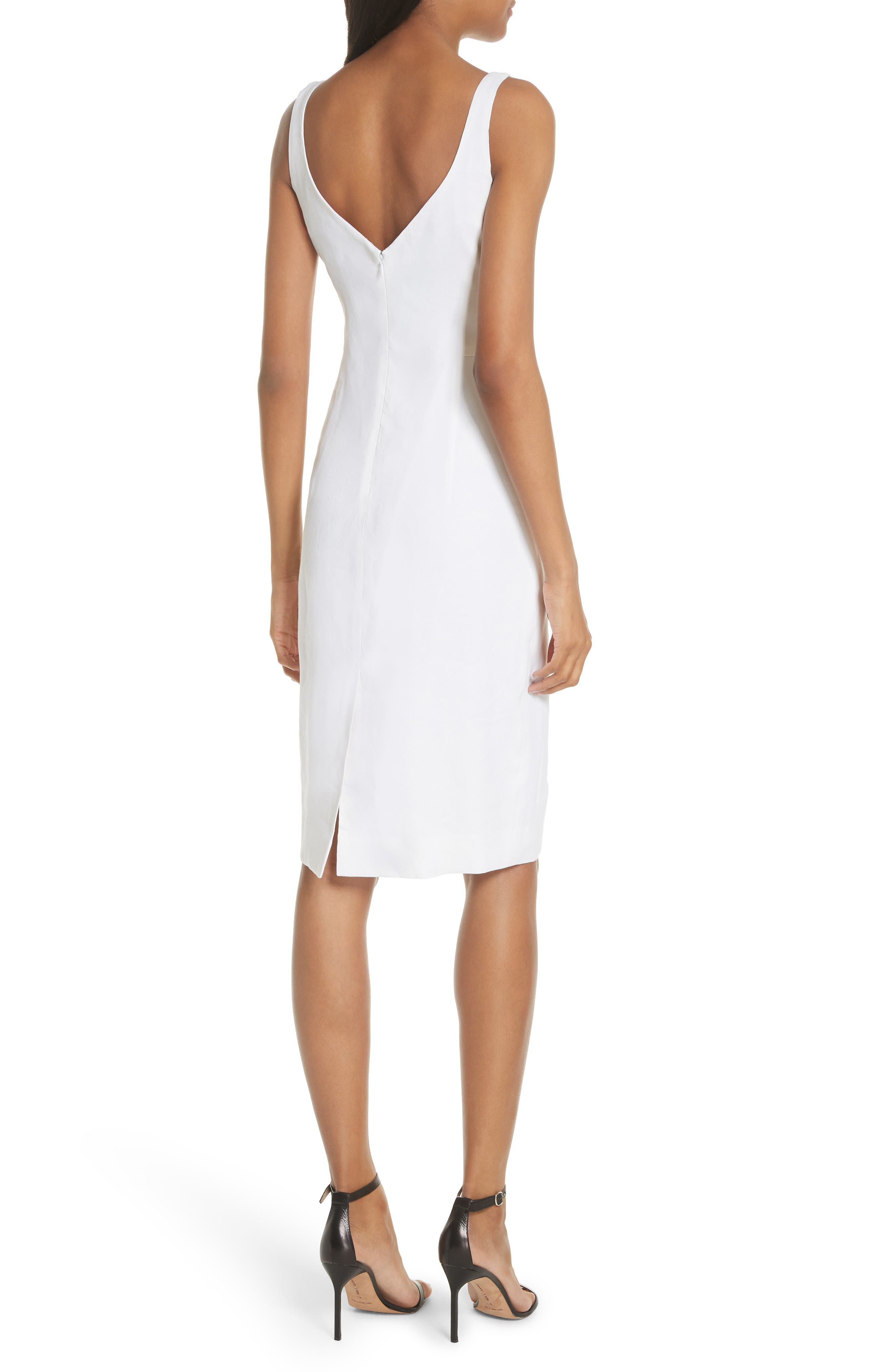 Elizabeth Stretch Linen Blend Sheath Dress by Milly