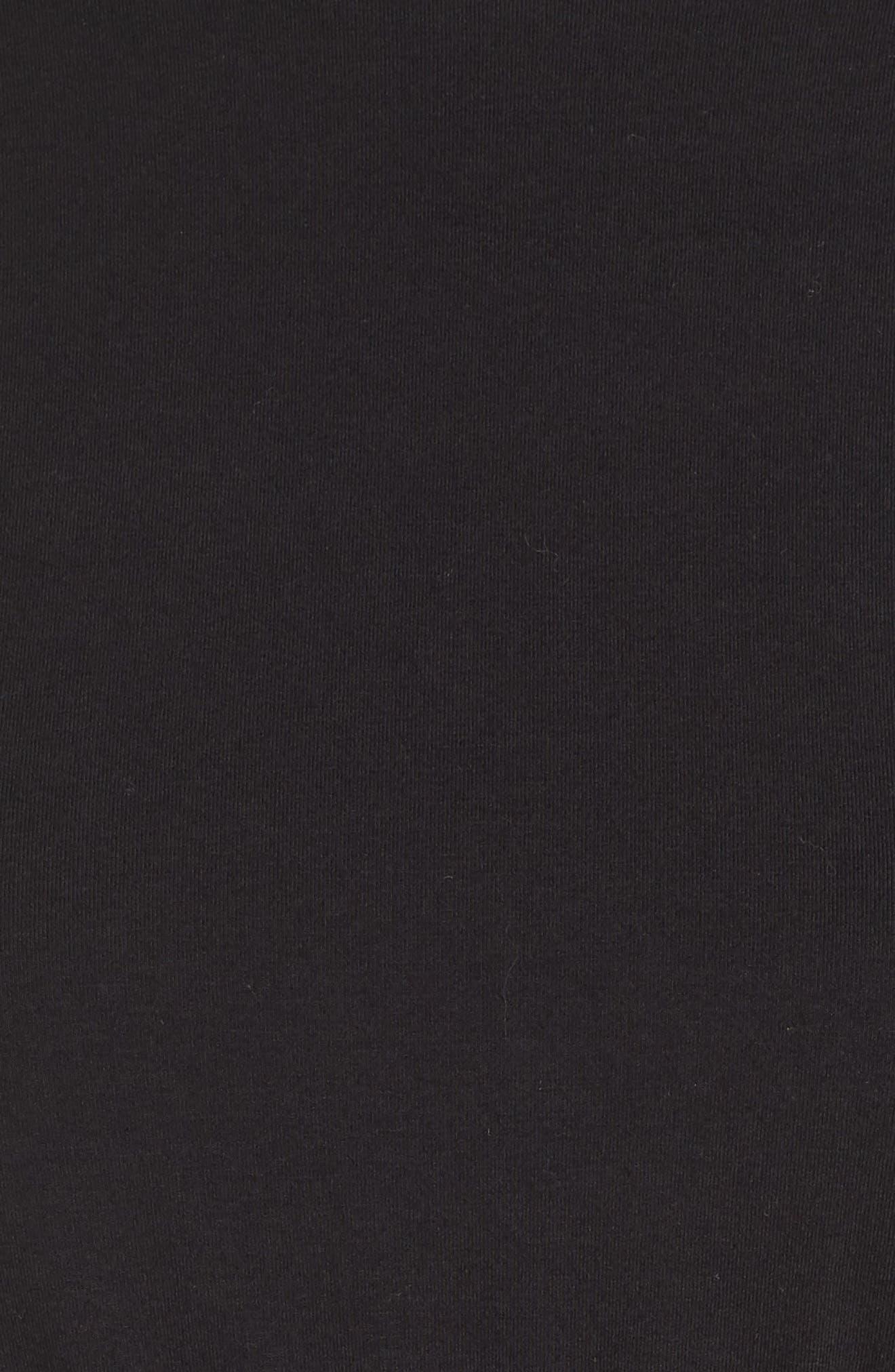 Tie Back Midi Dress,                             Alternate thumbnail 6, color,                             Black