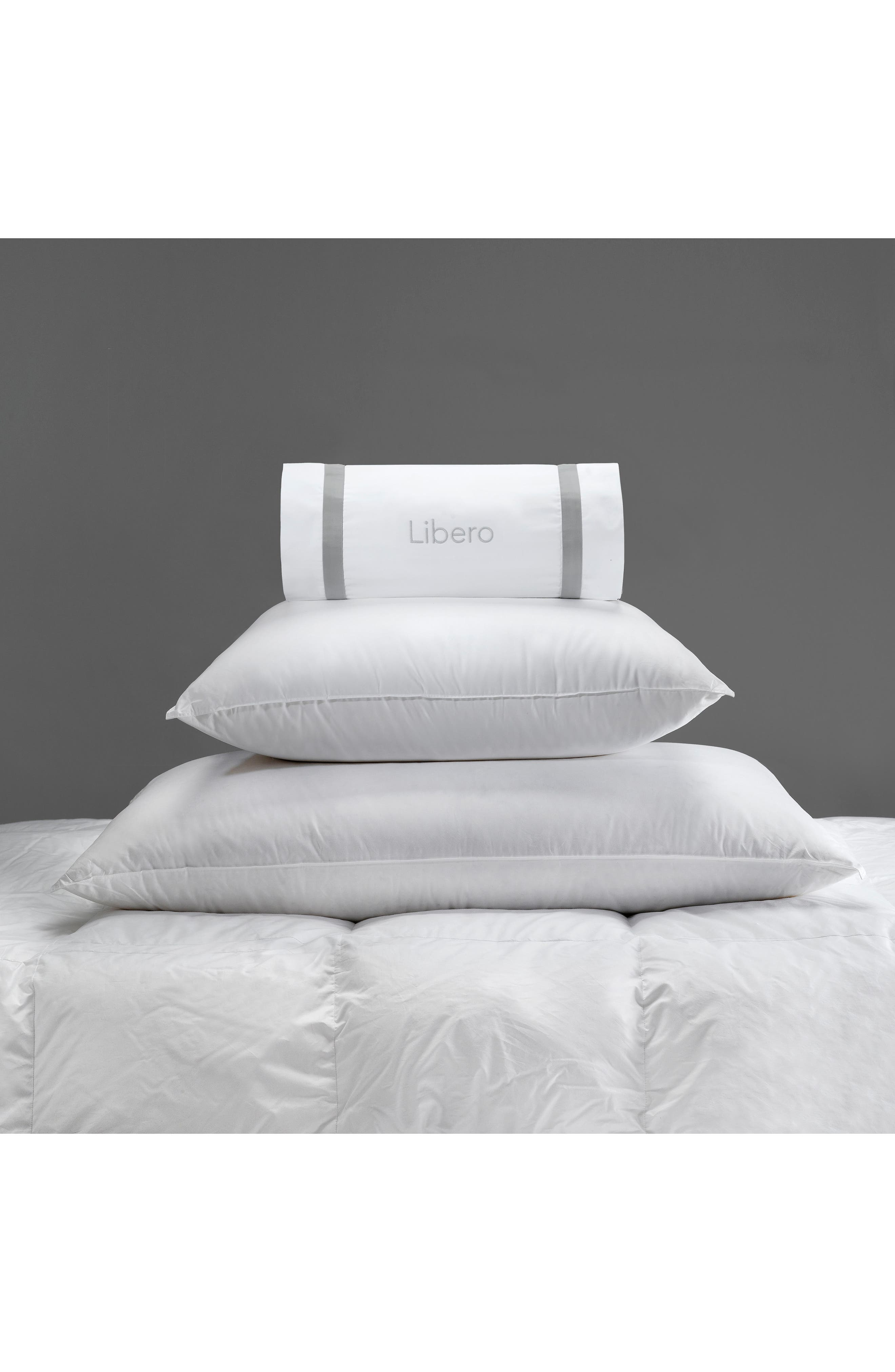 Libero Firm Boudoir Pillow,                             Alternate thumbnail 2, color,                             White
