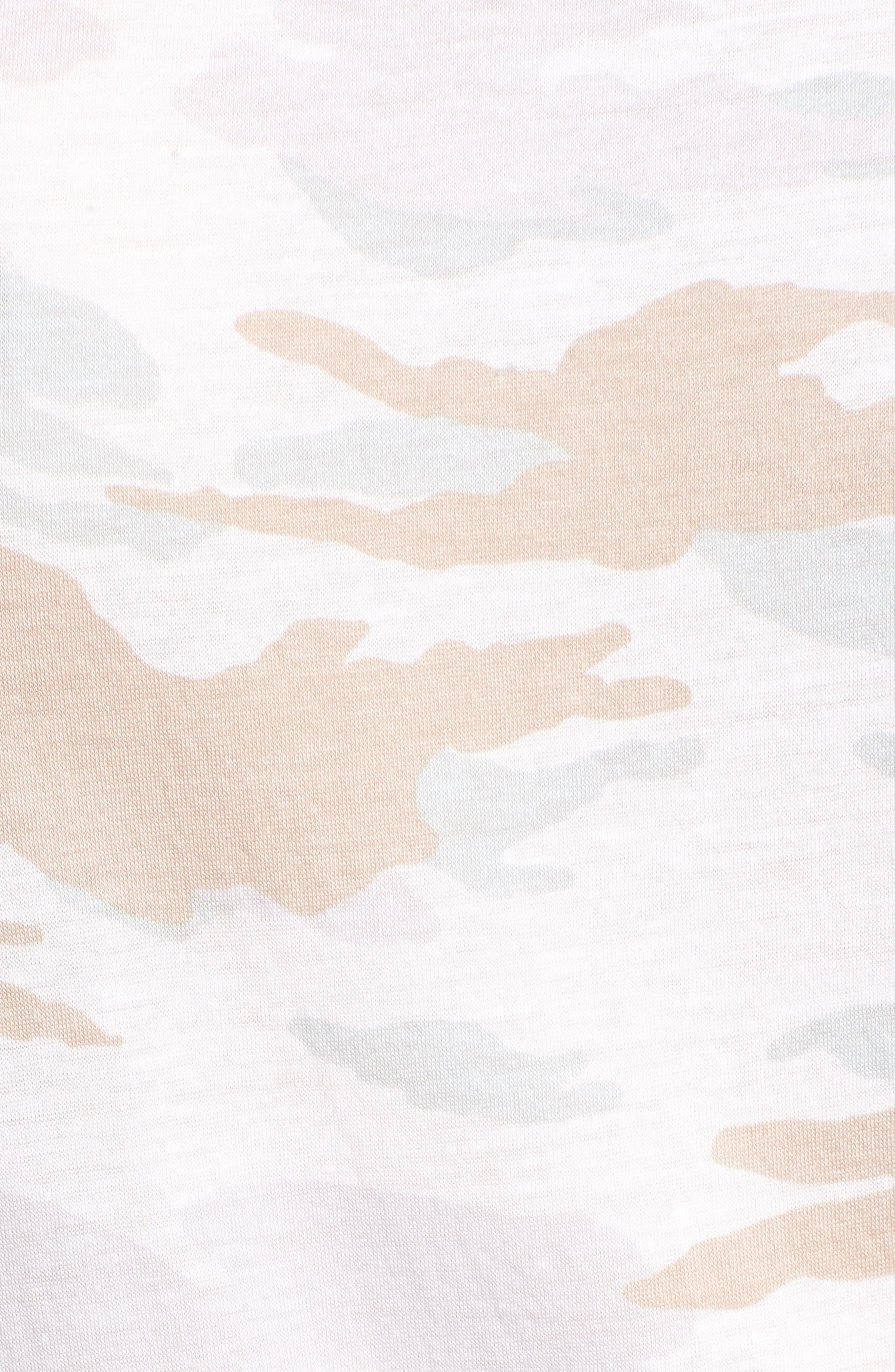 Camo Swing Tee,                             Alternate thumbnail 6, color,                             White