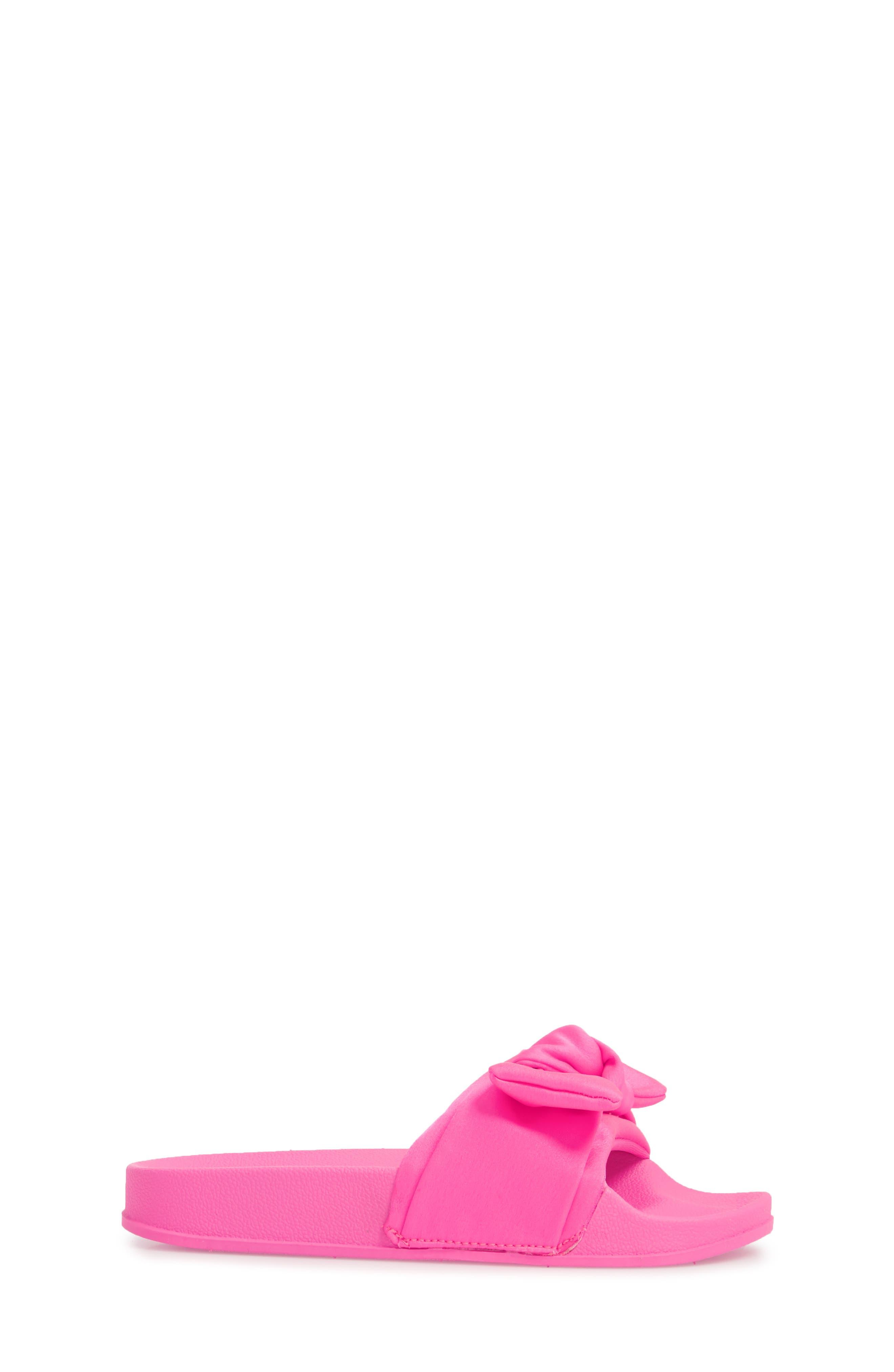 JSilky Slide Sandal,                             Alternate thumbnail 3, color,                             Hot Pink