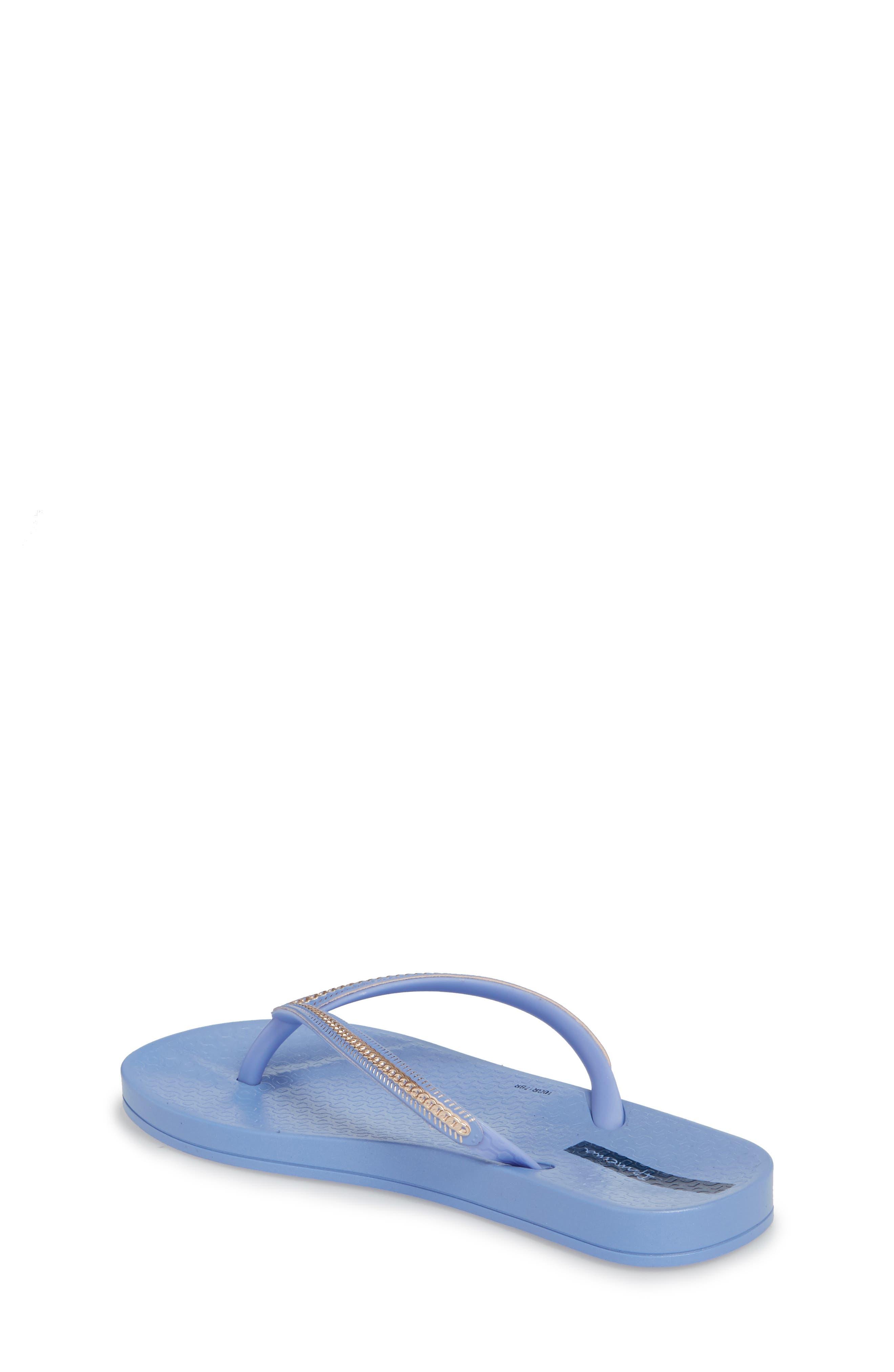 Ana Metallic Flip Flop,                             Alternate thumbnail 2, color,                             Blue/ Rose