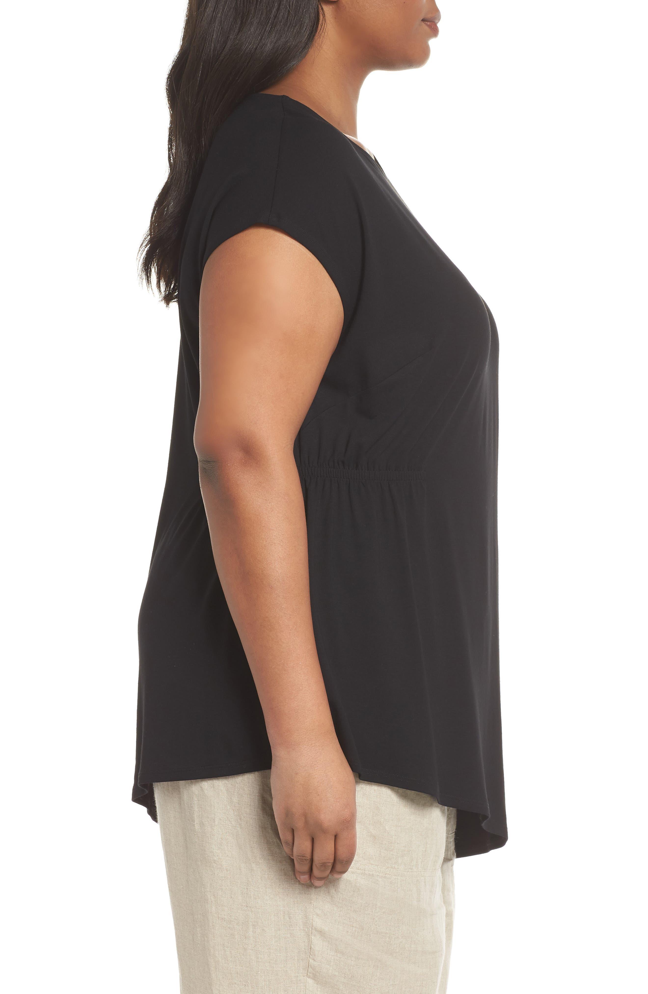Alternate Image 3  - Eileen Fisher Asymmetrical Jersey Top (Plus Size)