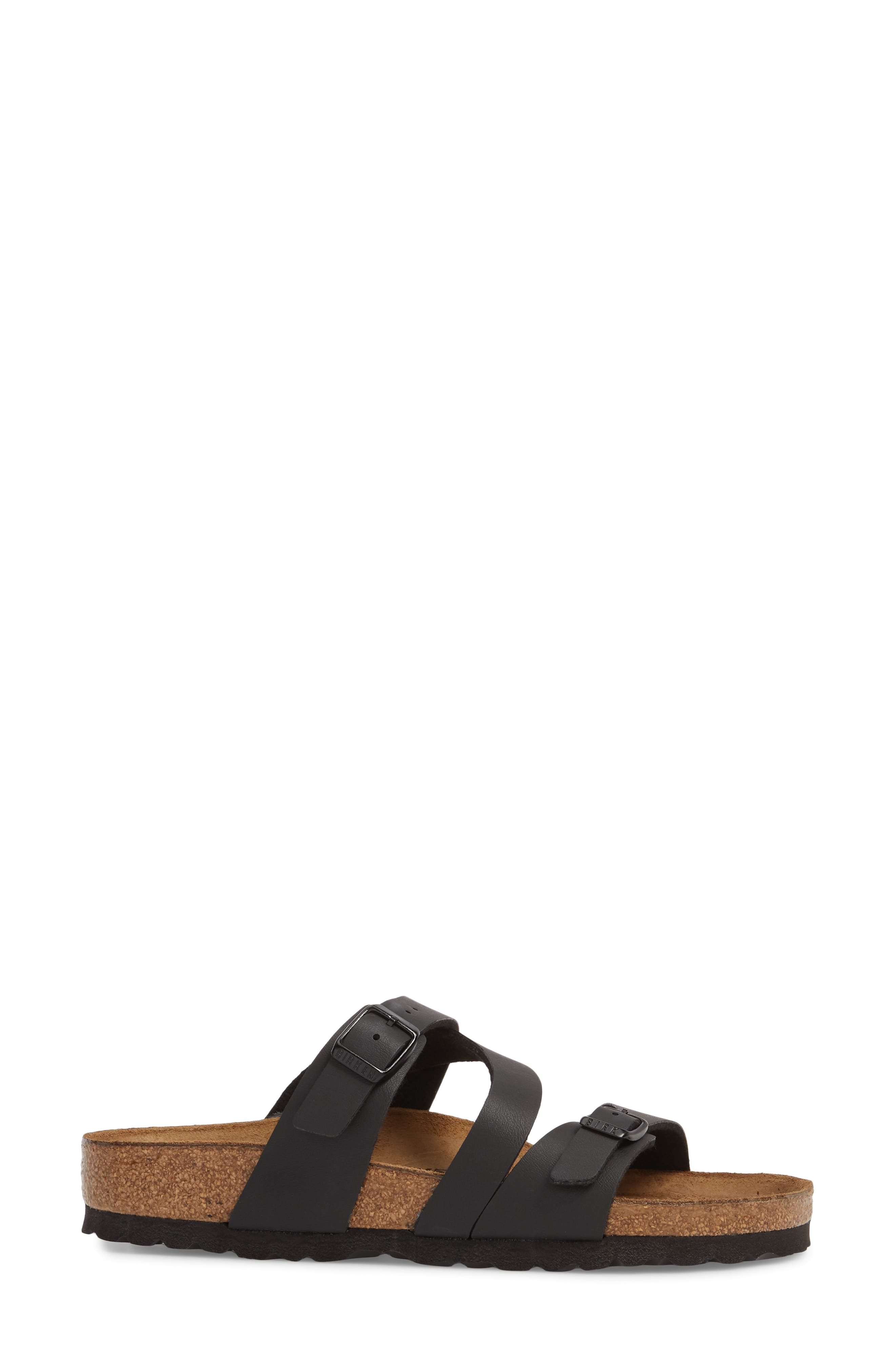 Salina Slide Sandal,                             Alternate thumbnail 3, color,                             Black