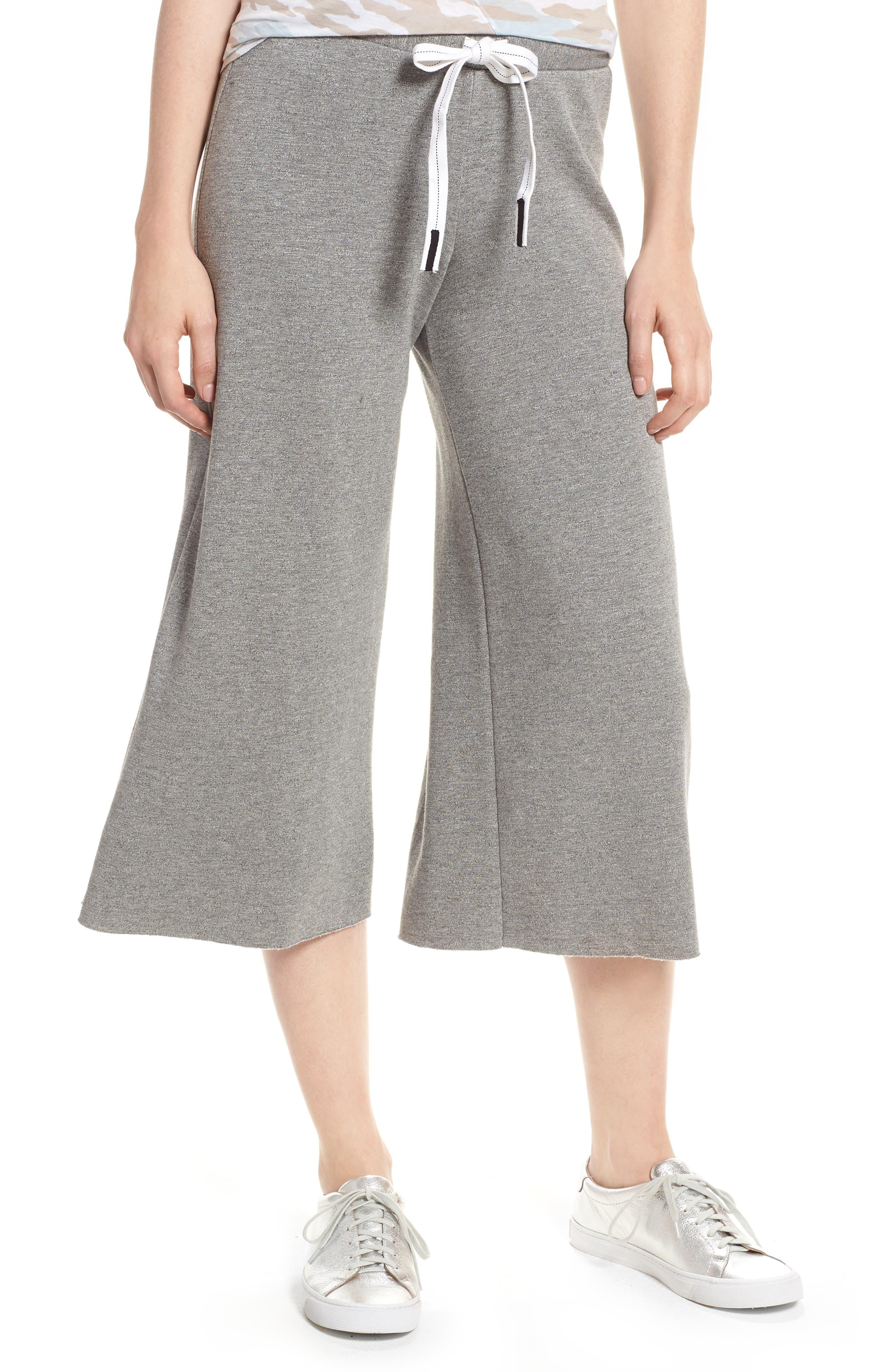 Flare Fleece Pants,                         Main,                         color, Heather Grey