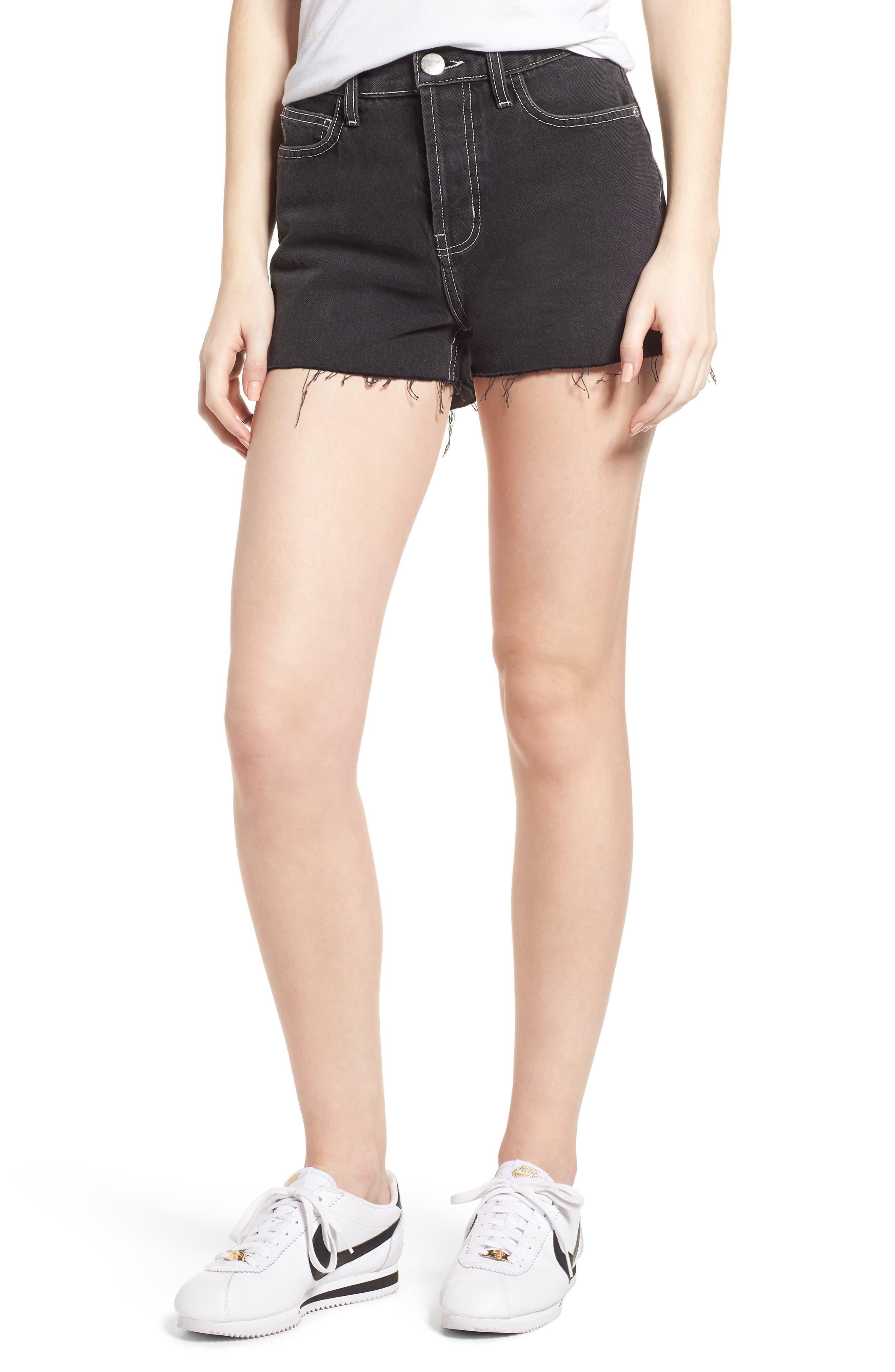 The Ultra High Waist Denim Shorts,                             Main thumbnail 1, color,                             Conary
