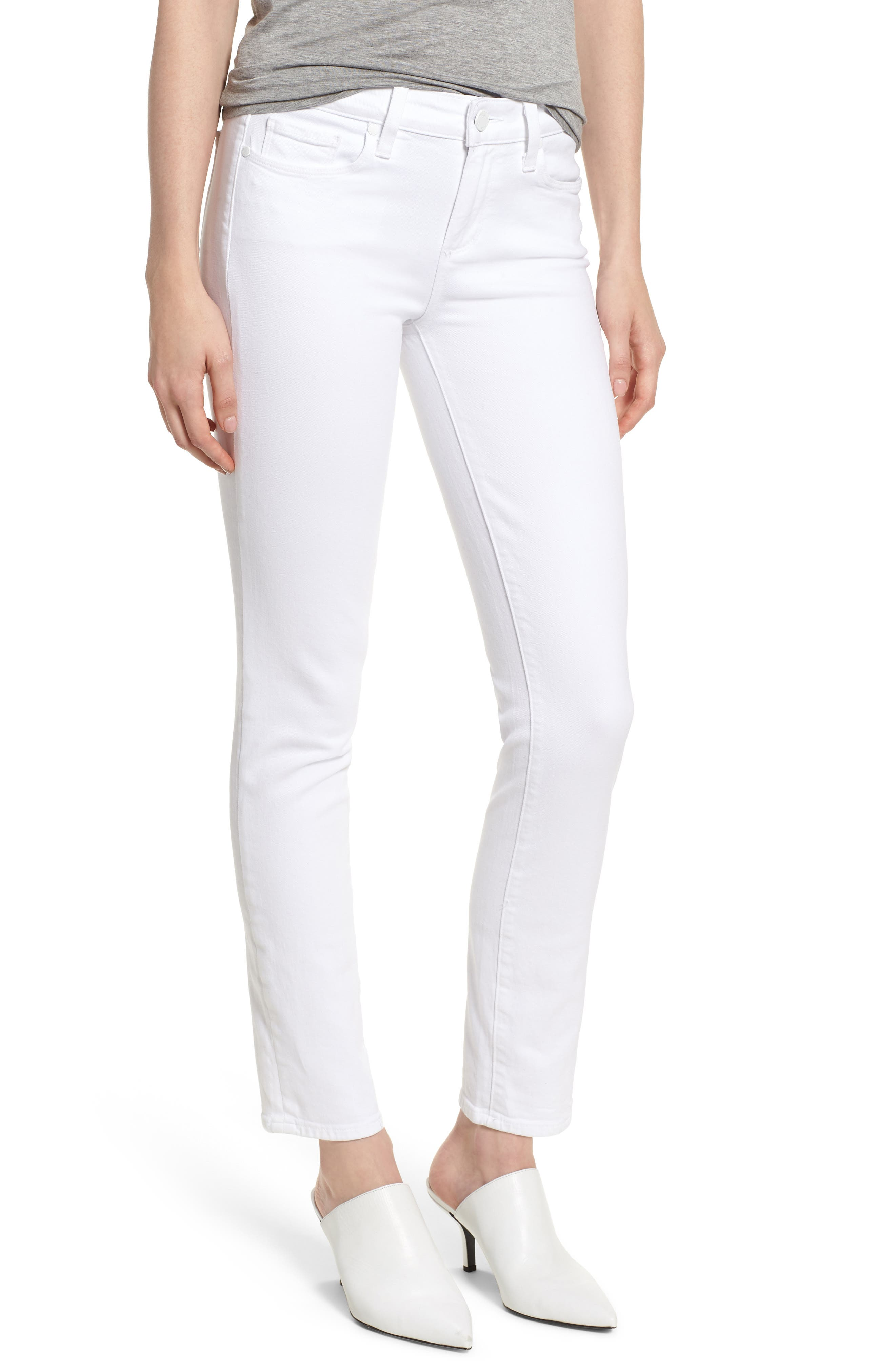 PAIGE Skyline Ankle Peg Skinny Jeans (Crisp White)