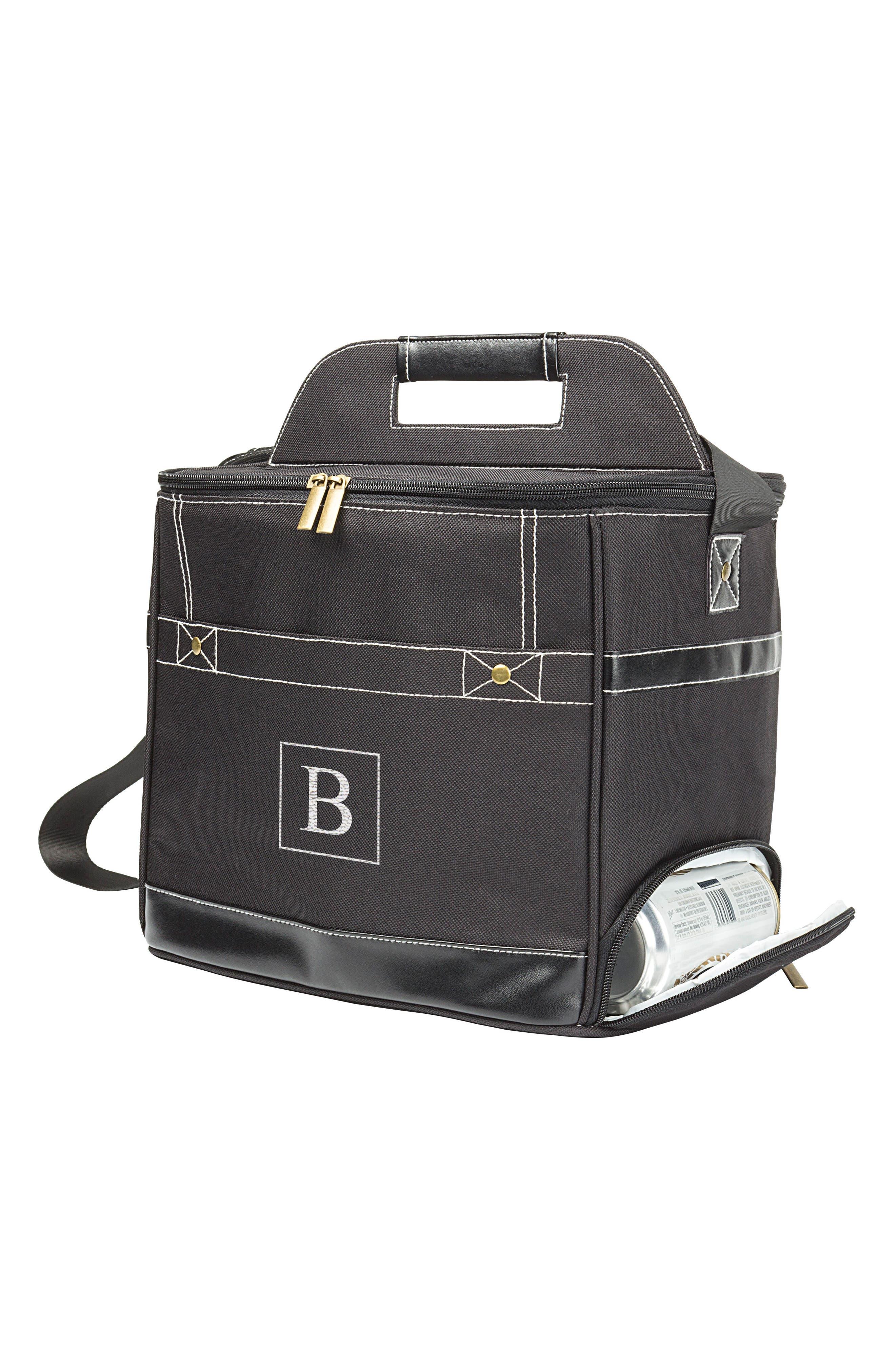 Monogram Can Dispenser Cooler,                         Main,                         color, Black - B