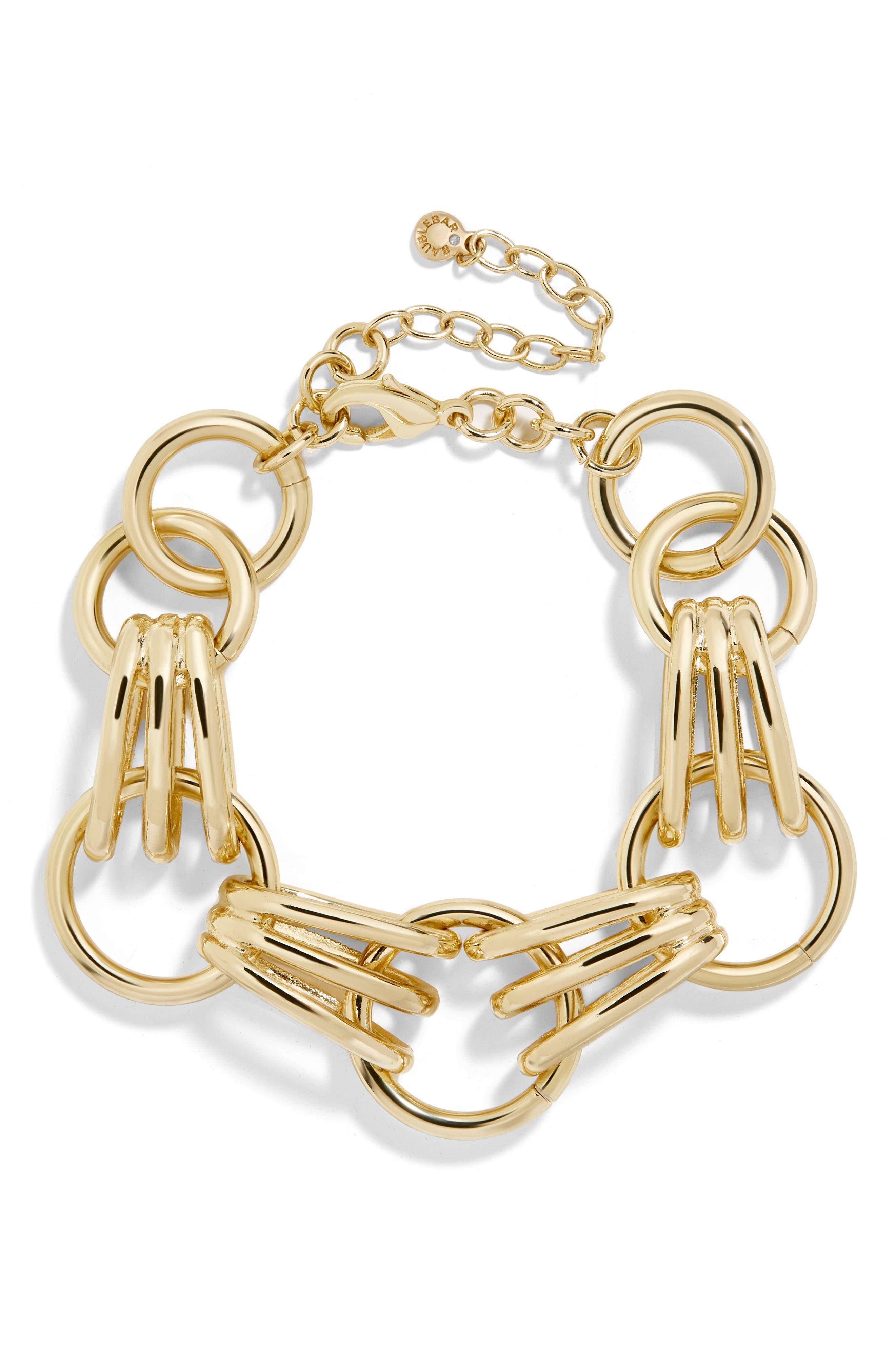 Mariya Link Bracelet,                             Main thumbnail 1, color,                             Gold