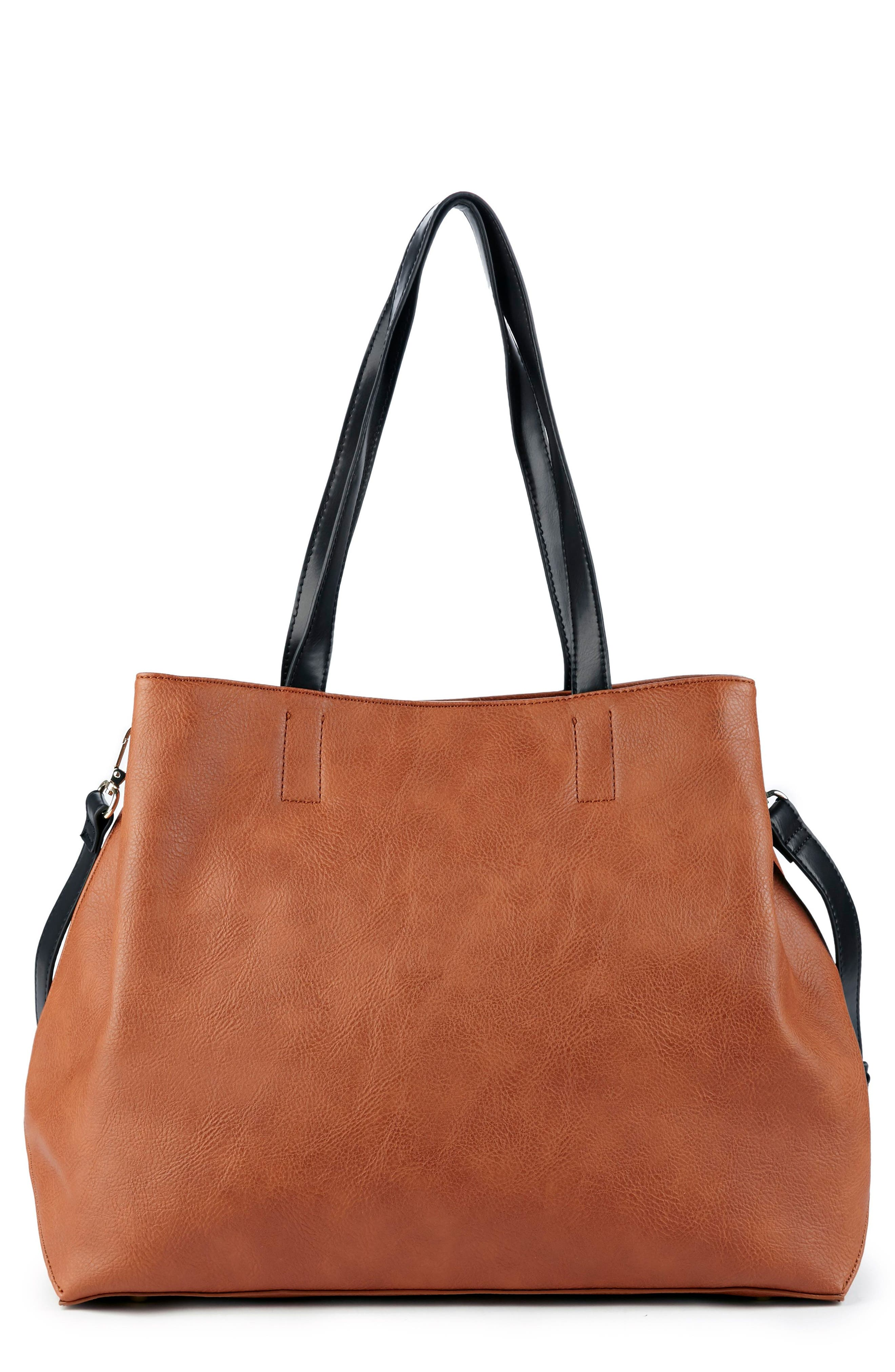 Alternate Image 1 Selected - Sole Society Hester Faux Leather Tote