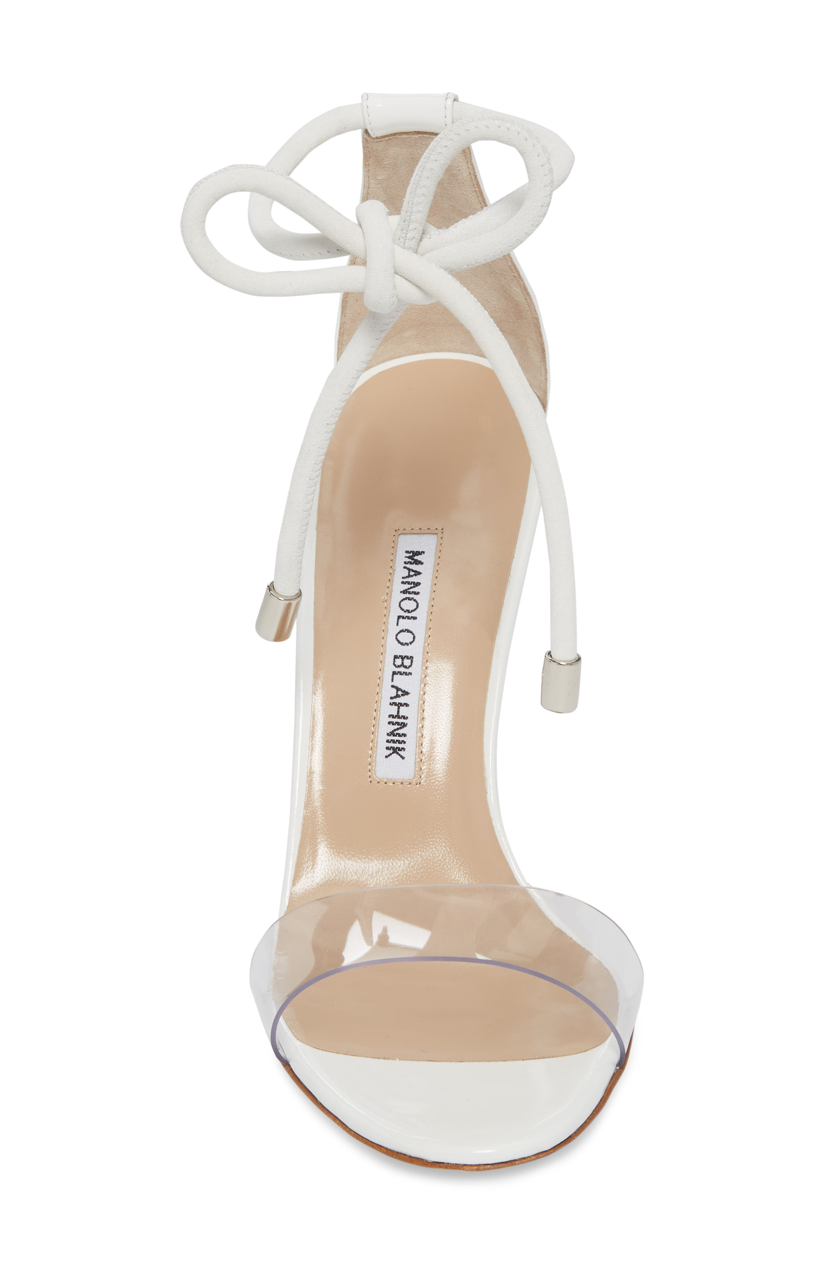 Estro Ankle Tie Sandal,                             Alternate thumbnail 4, color,                             White Patent