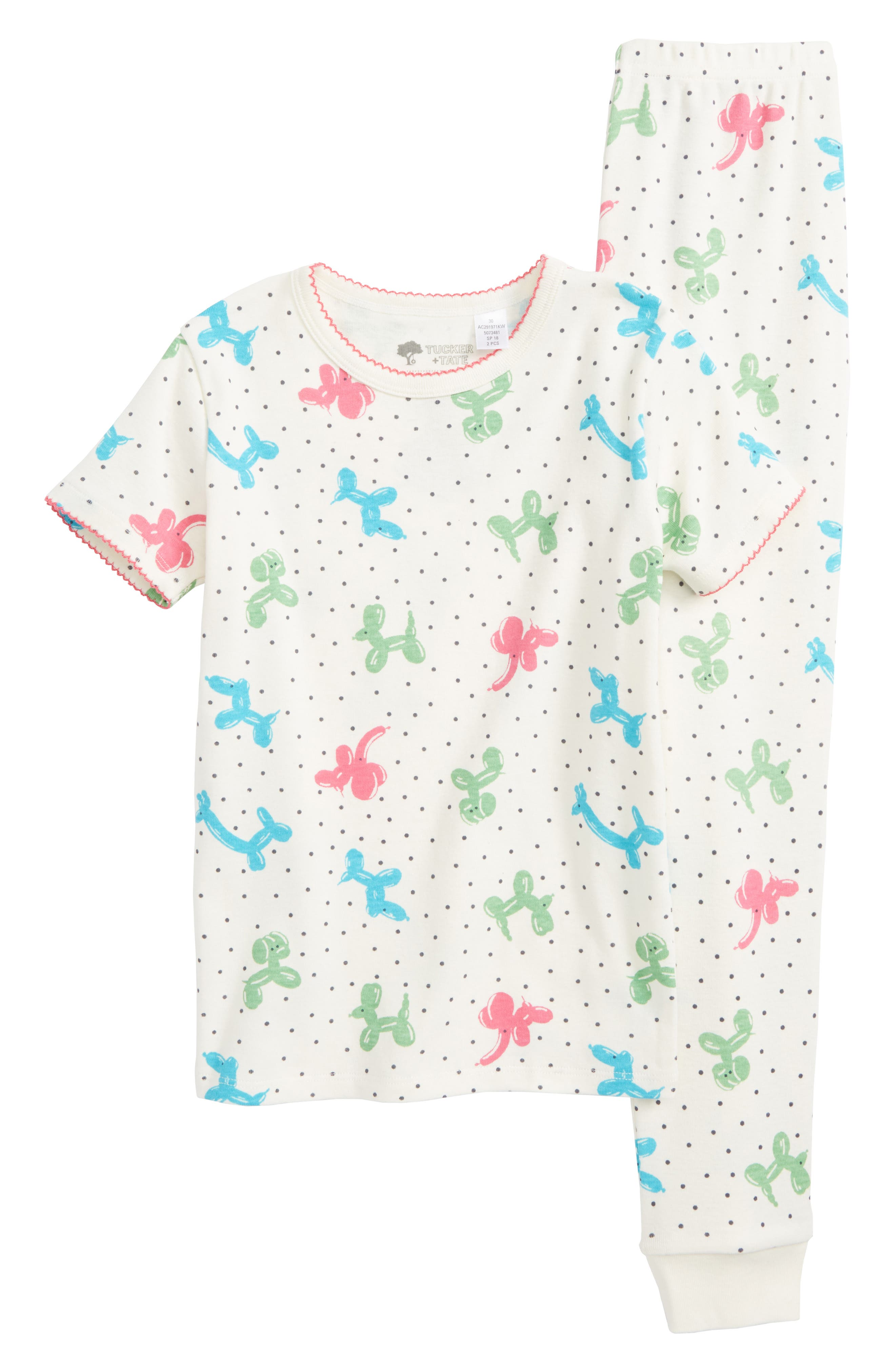 Tucker + Tate Two-Piece Fitted Pajamas (Toddler Girls, Little Girls & Big Girls)