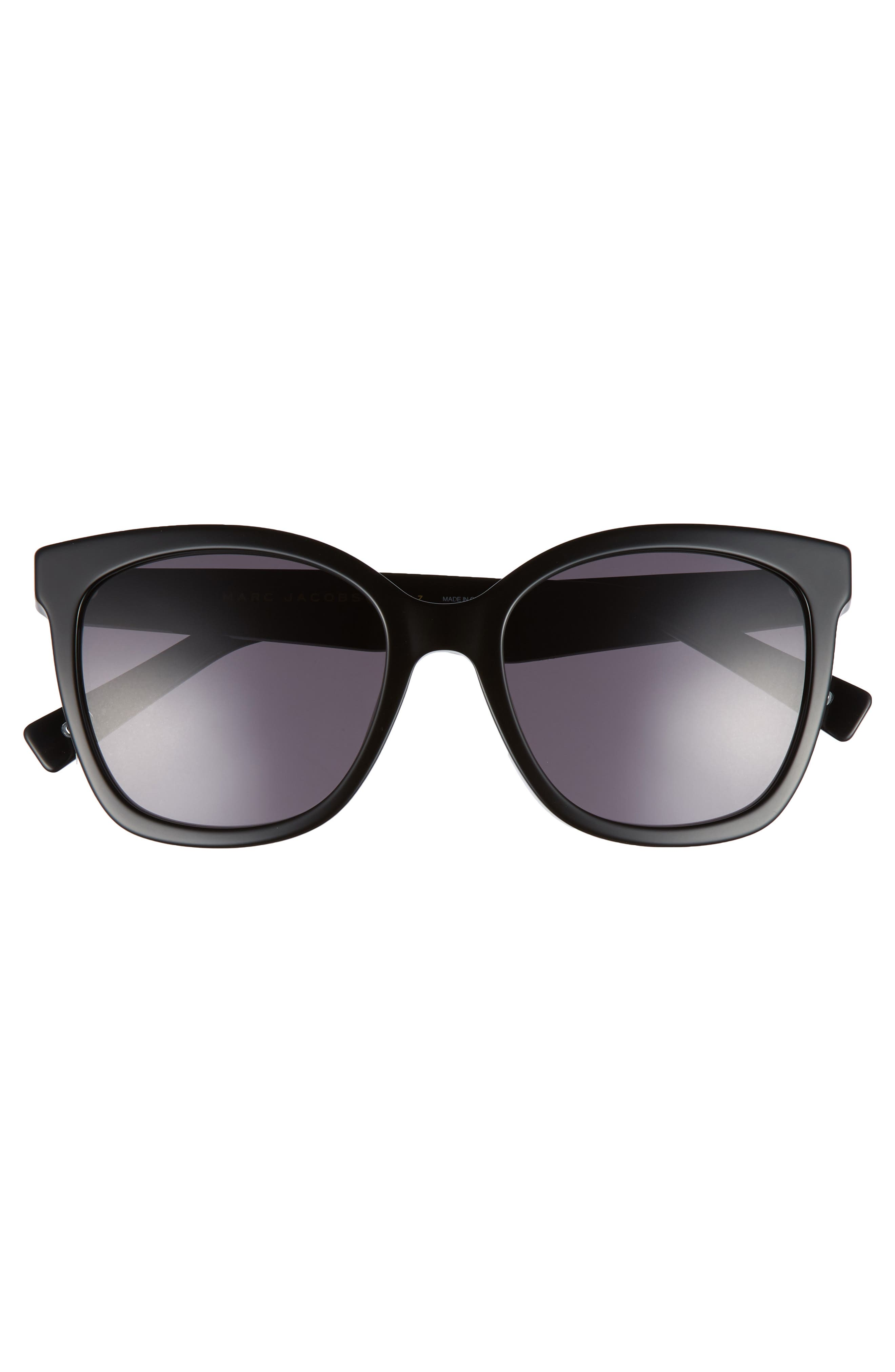 54mm Gradient Lens Sunglasses,                             Alternate thumbnail 3, color,                             Black Polar