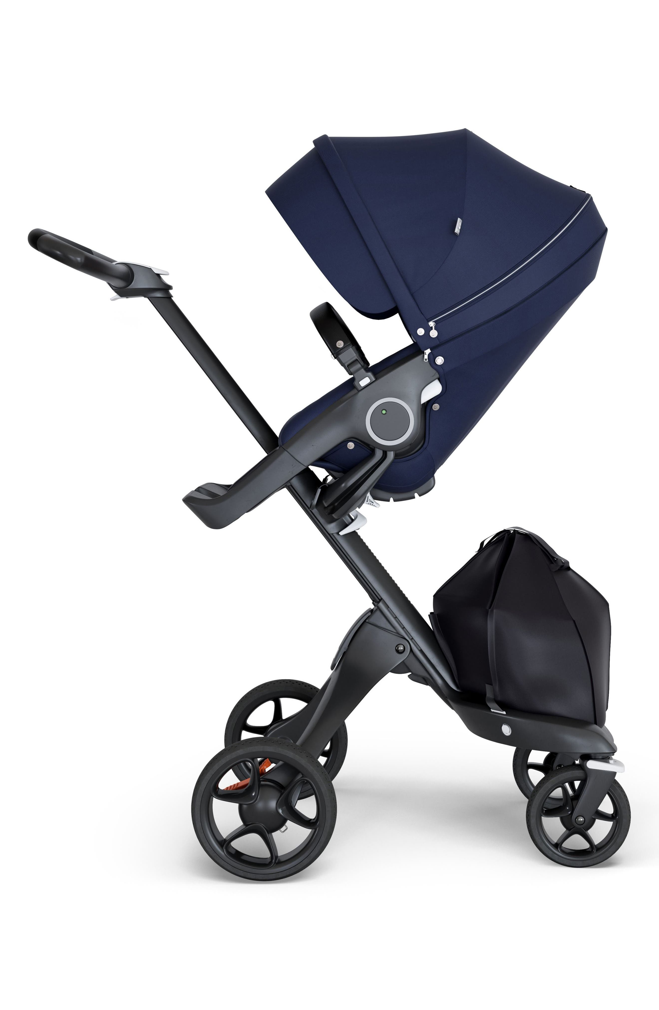 Xplory<sup>®</sup> Black Chassis Stroller,                             Main thumbnail 1, color,                             Deep Blue