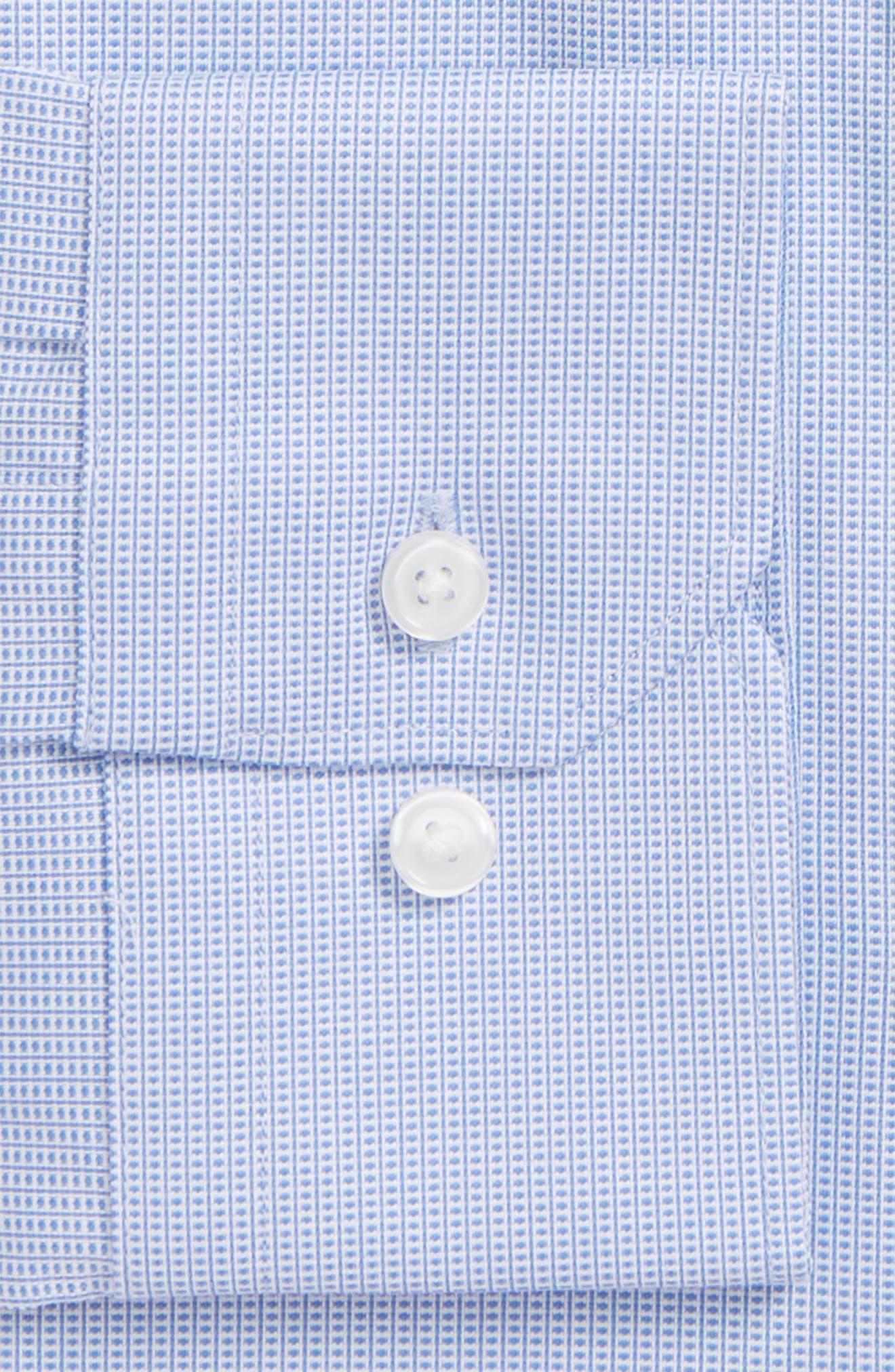 Extra Trim Fit Non-Iron Dress Shirt,                             Alternate thumbnail 2, color,                             Blue Azurite