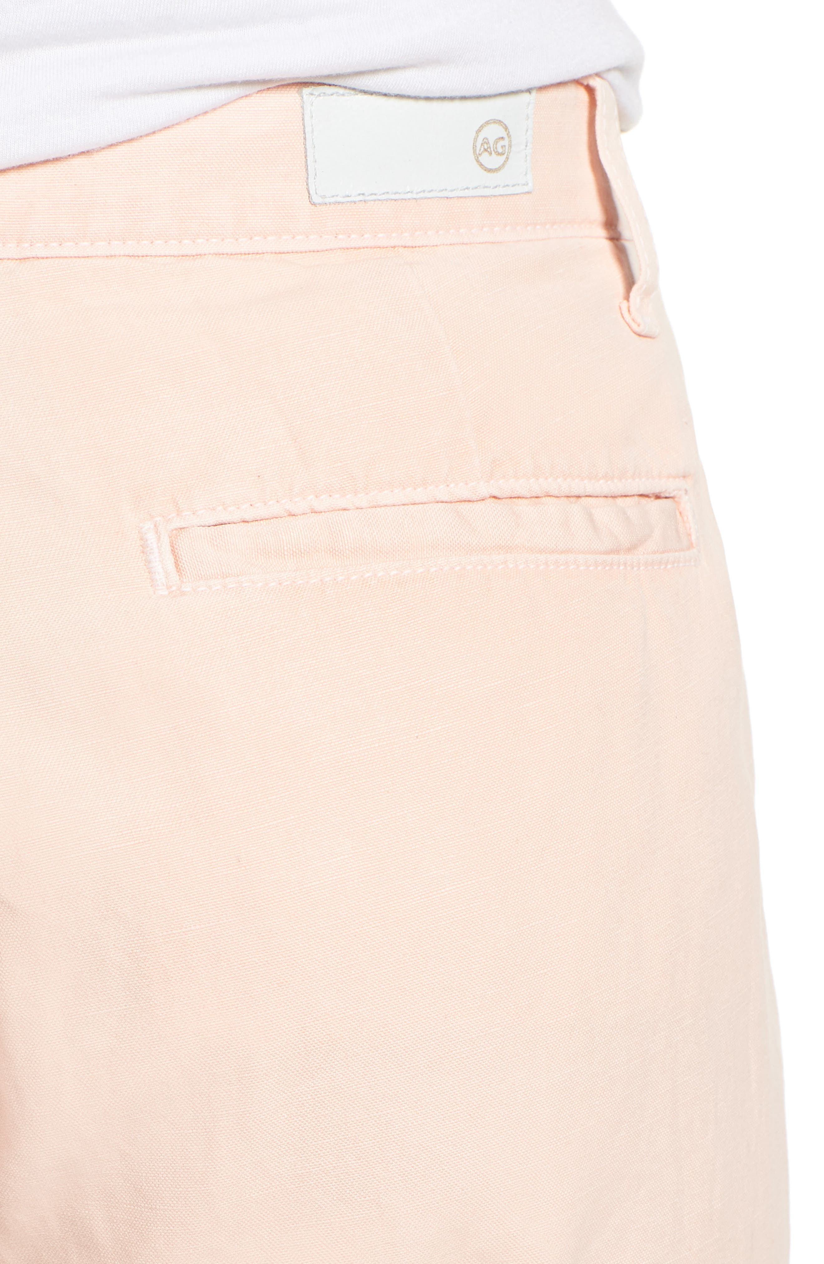 Caden Crop Twill Trousers,                             Alternate thumbnail 6, color,                             Sulfur Prism Pink