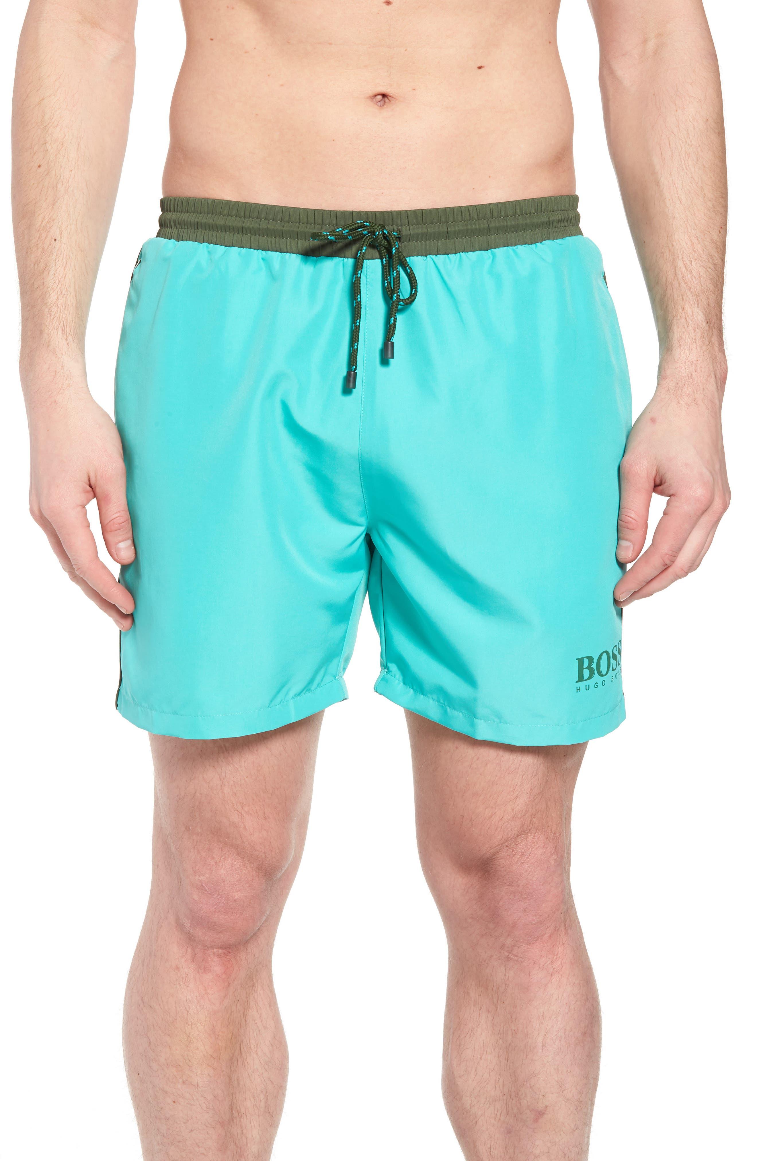 Starfish Swim Trunks,                         Main,                         color, Green