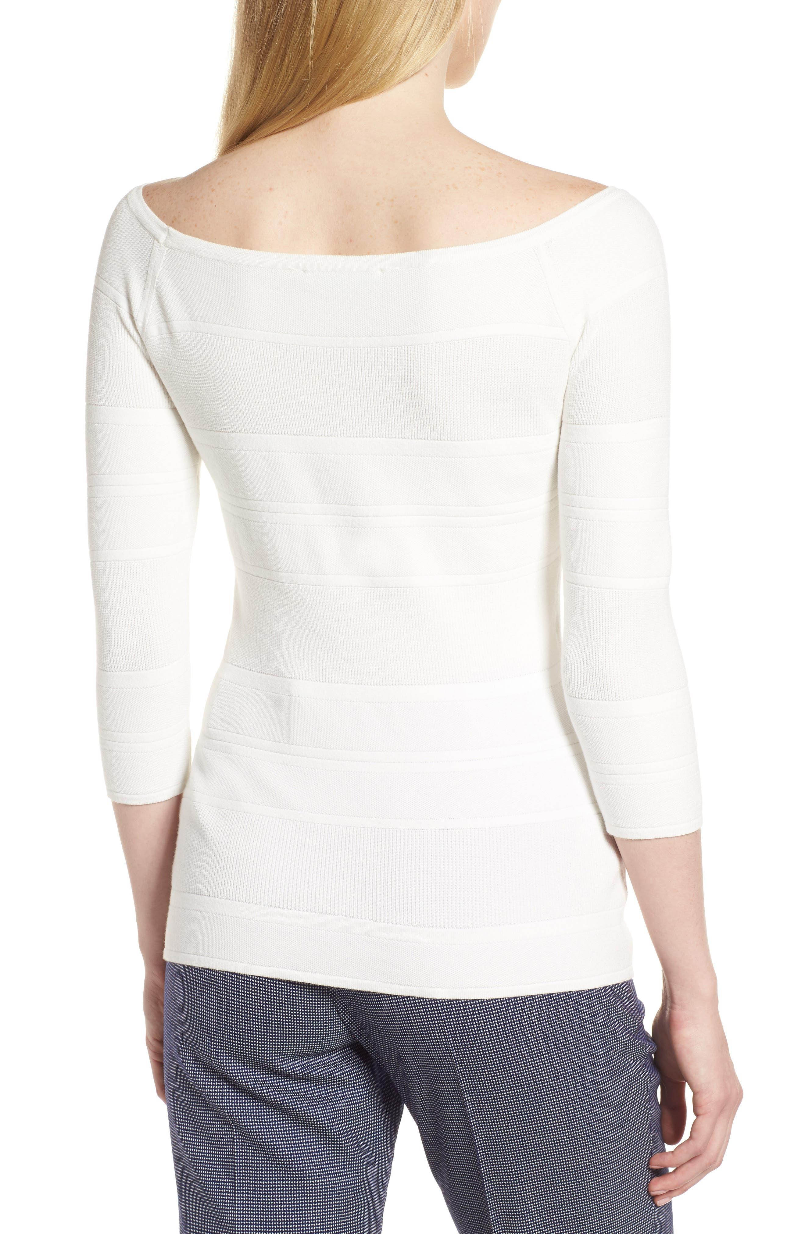 Finami Sweater,                             Alternate thumbnail 2, color,                             White