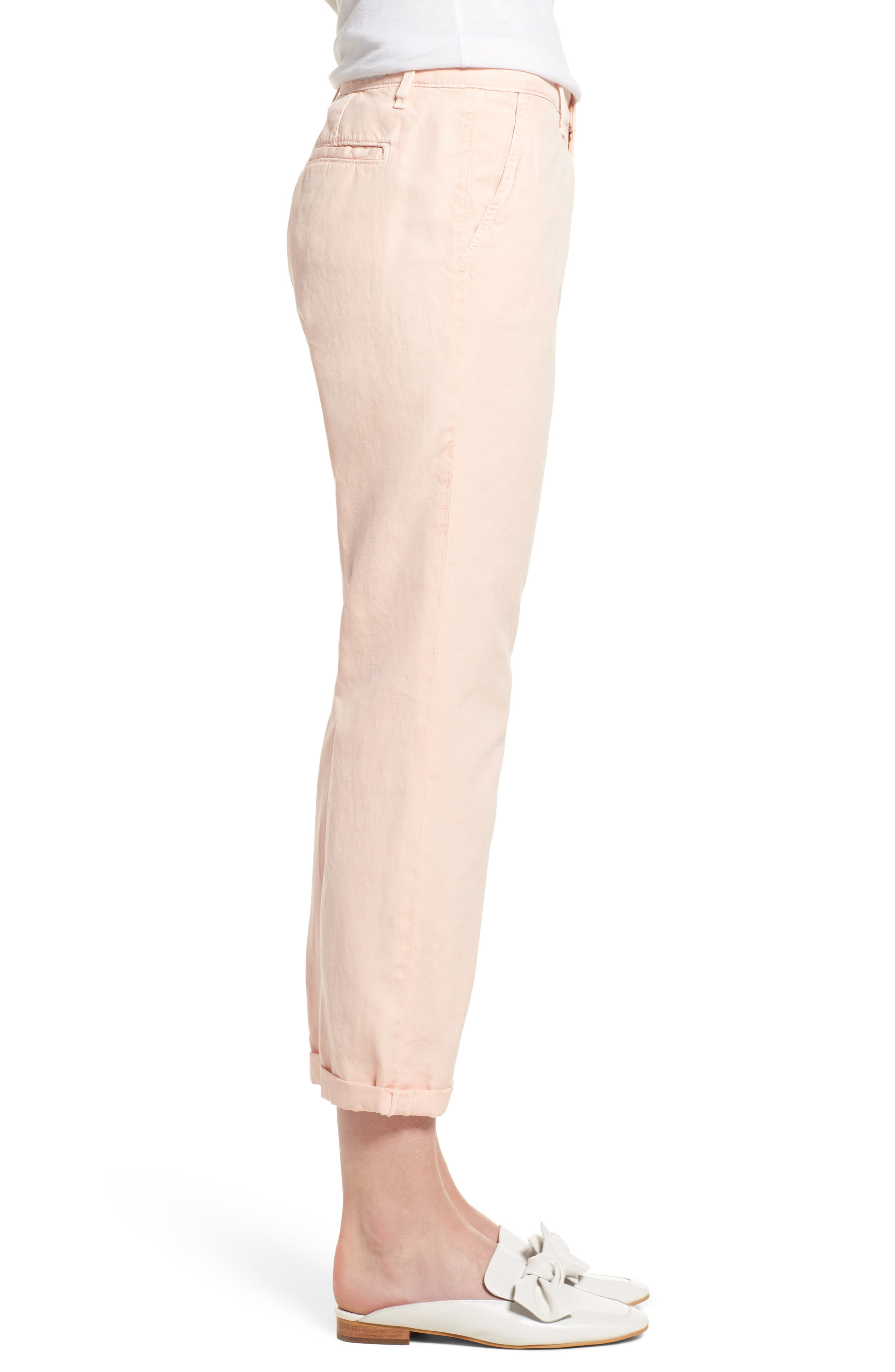 Caden Crop Twill Trousers,                             Alternate thumbnail 4, color,                             Sulfur Prism Pink