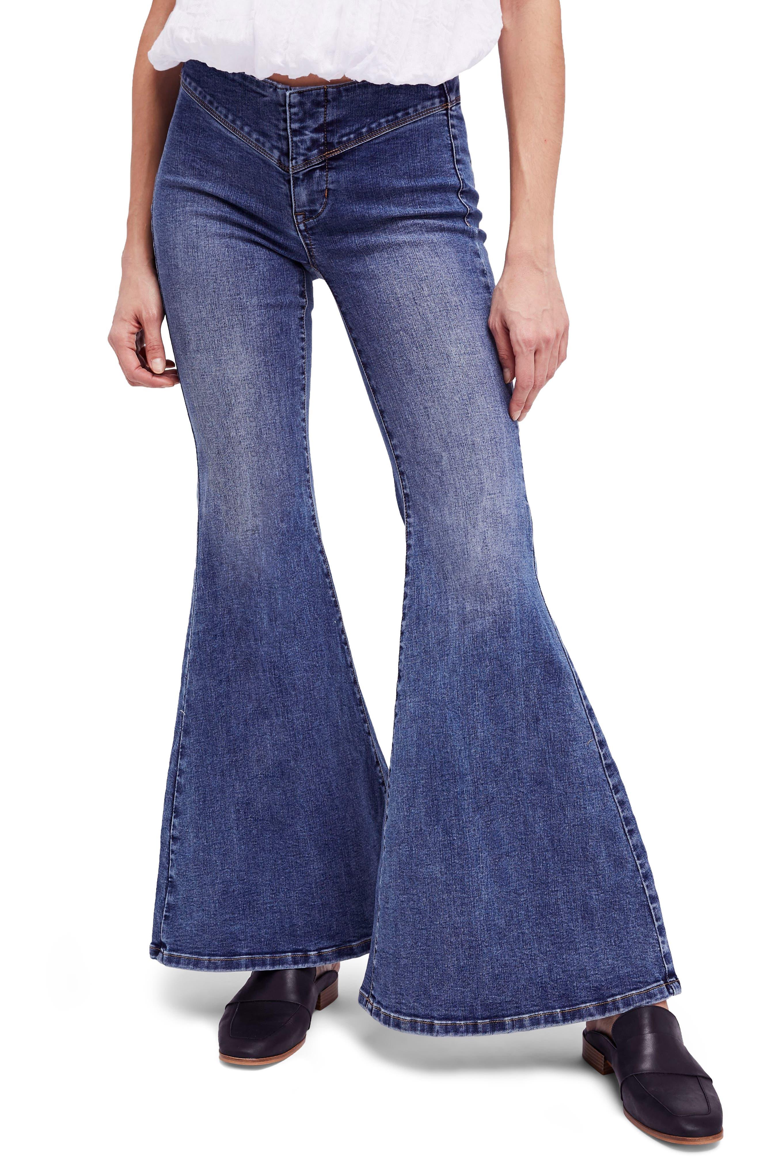 Flare Jeans,                         Main,                         color, Blue