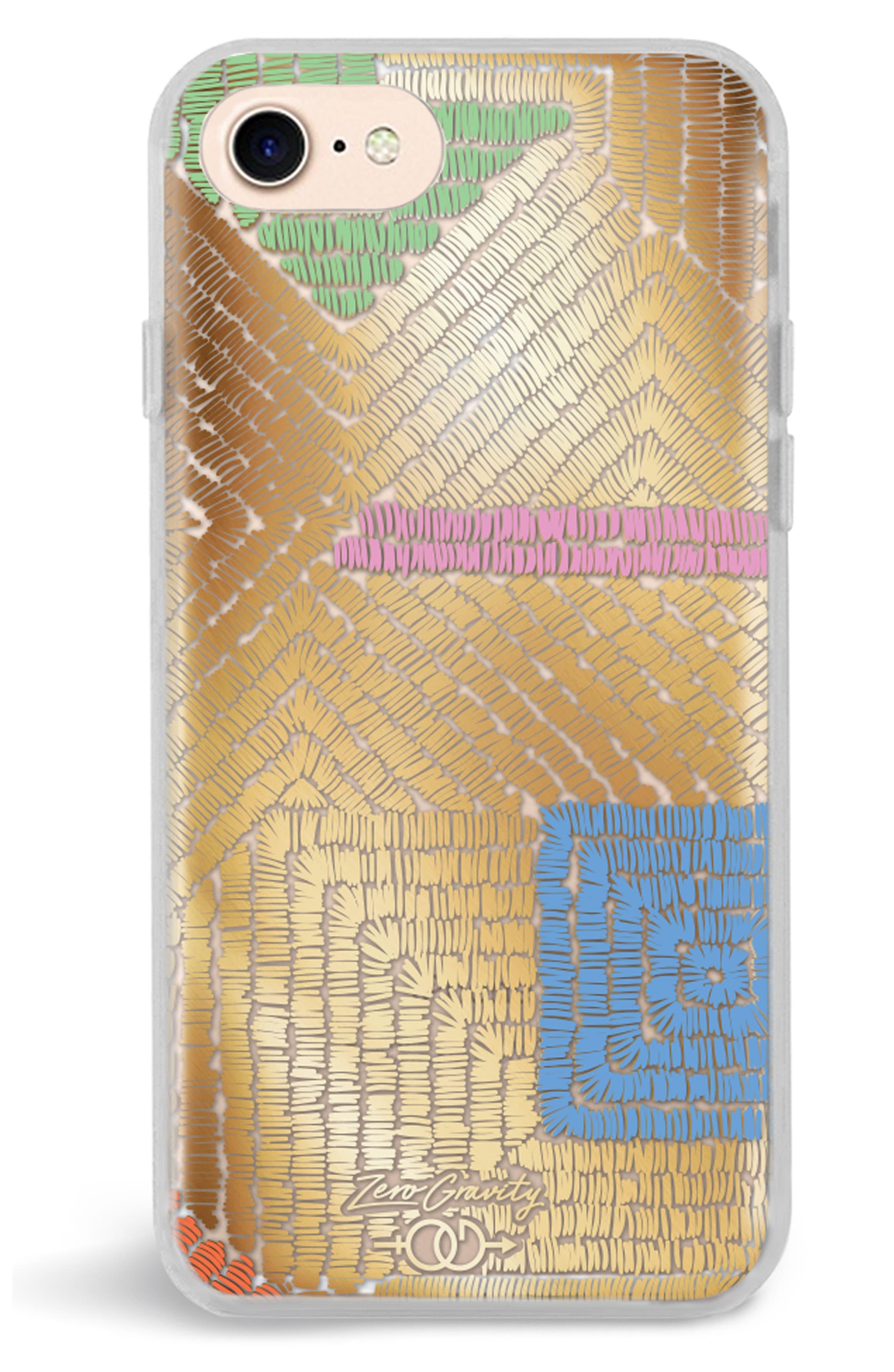 Maze iPhone 7/8 & 7/8 Plus Case,                             Alternate thumbnail 2, color,                             Gold Multi