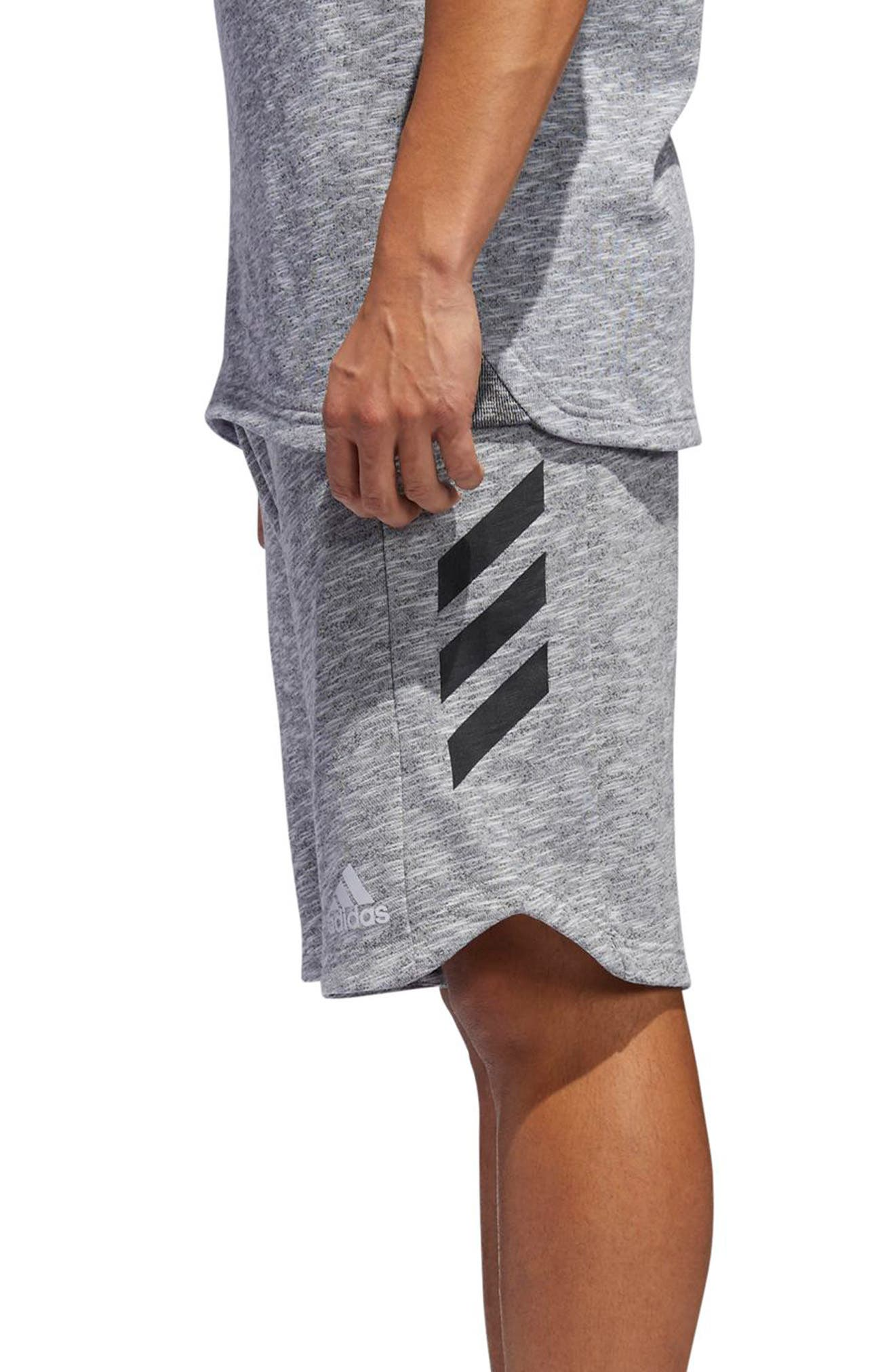 Pick Up Knit Shorts,                             Alternate thumbnail 3, color,                             Lgh Solid Grey