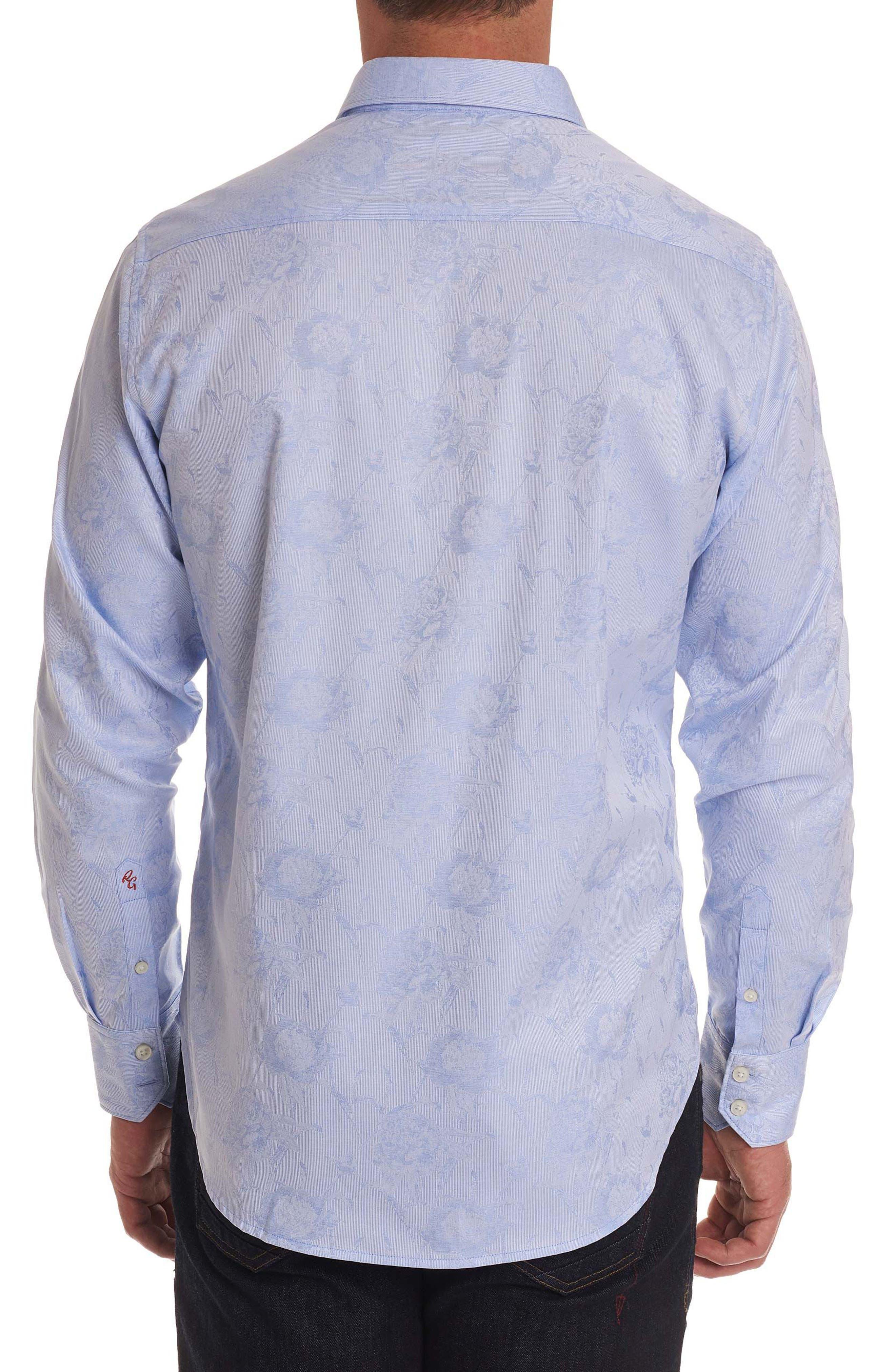 Gilberts Classic Fit Sport Shirt,                             Alternate thumbnail 2, color,                             Light Blue