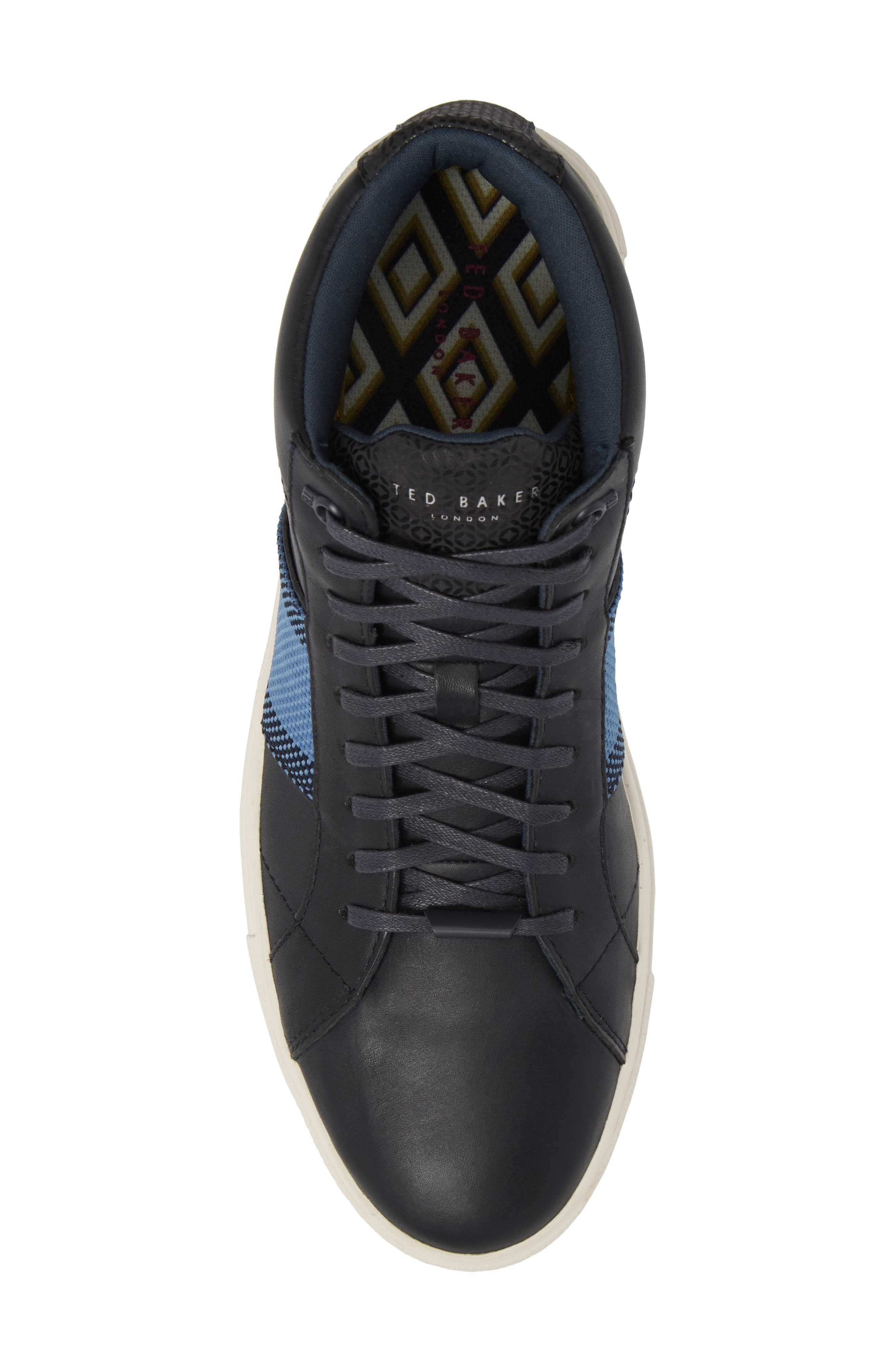 Cruuw High Top Sneaker,                             Alternate thumbnail 5, color,                             Dark Blue Leather
