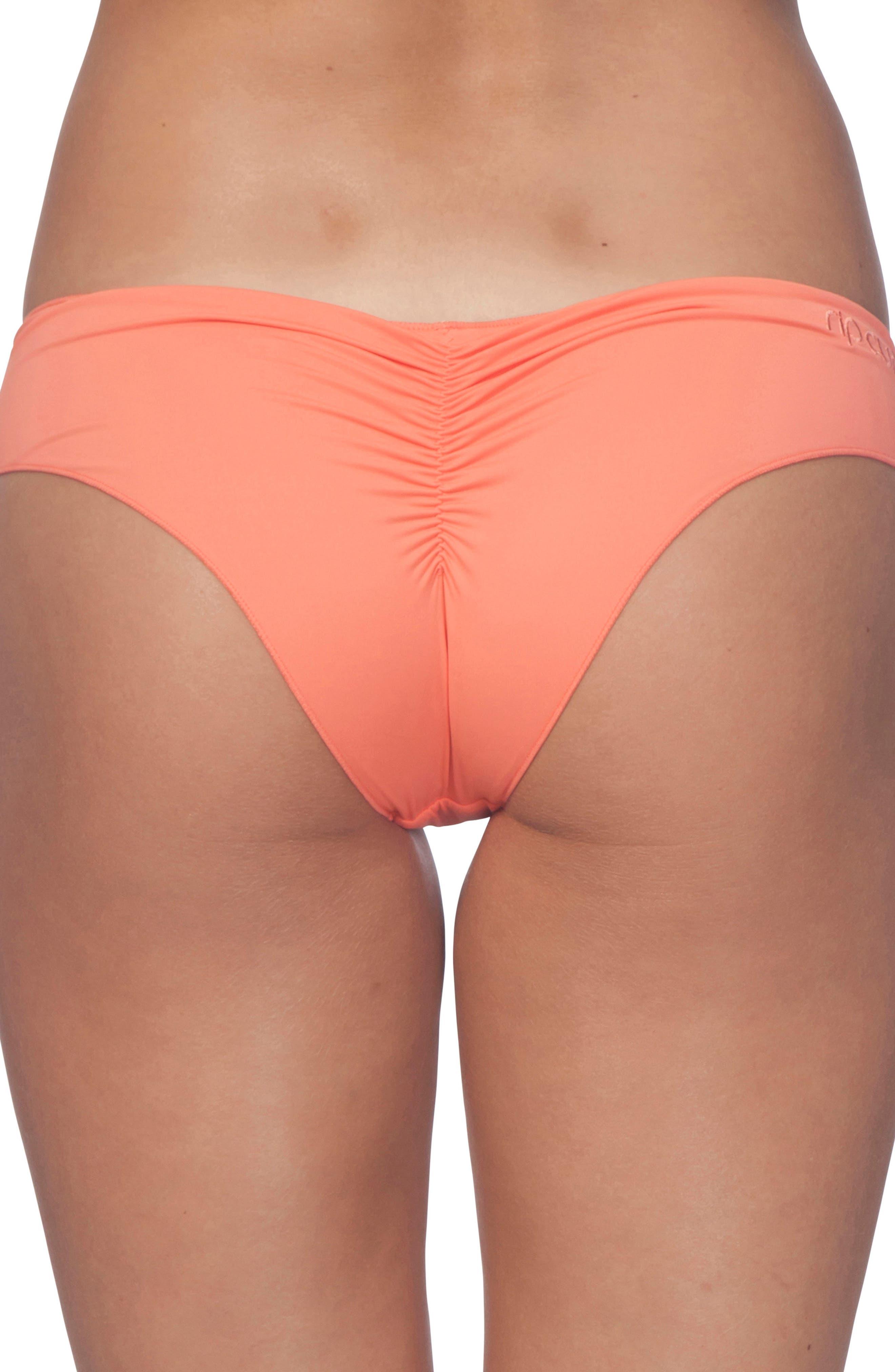 Classic Surf Hipster Bikini Bottom,                             Alternate thumbnail 2, color,                             Coral