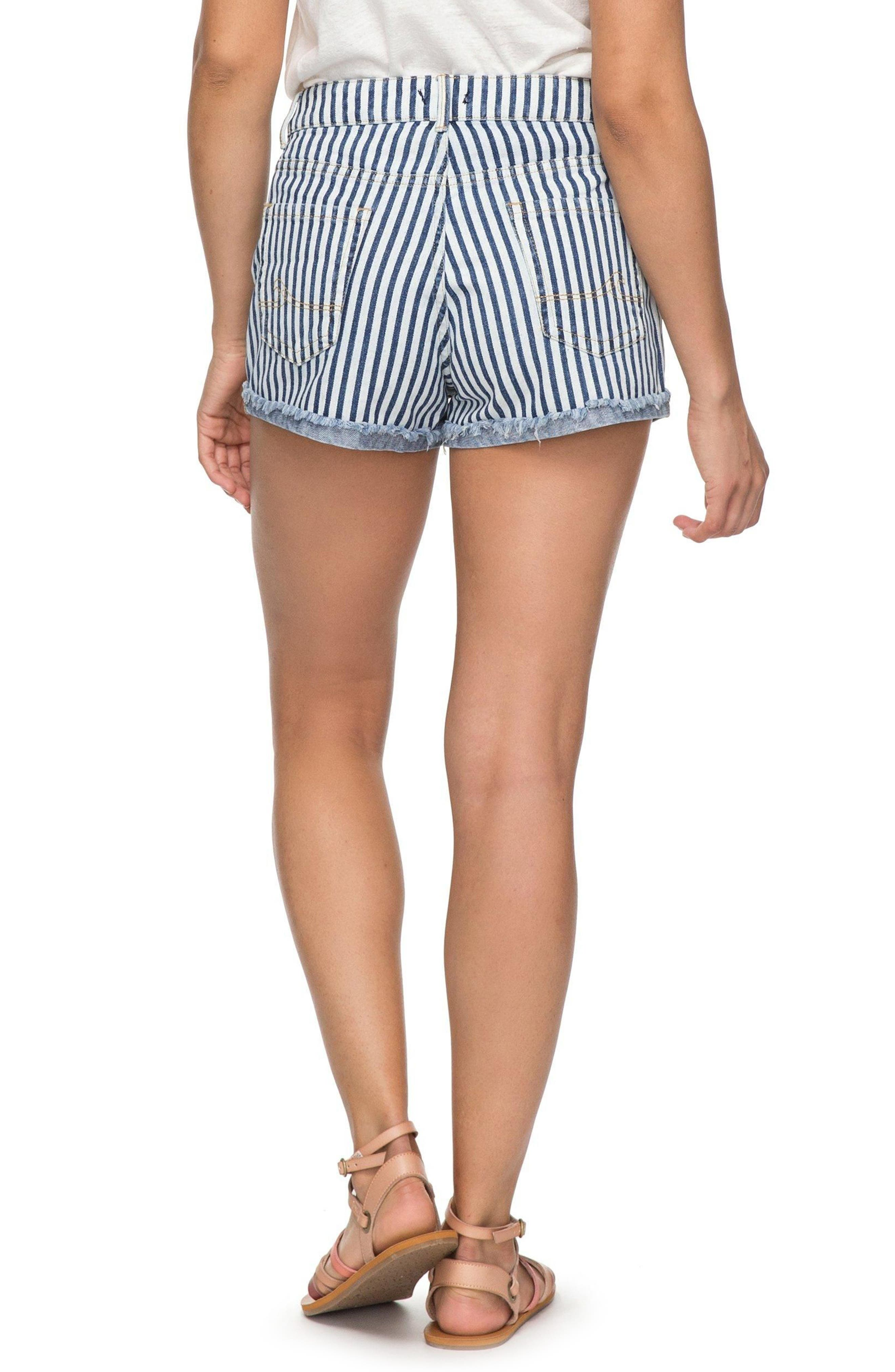 Holbrook Stripe Cotton Shorts,                             Alternate thumbnail 2, color,                             Medium Blue La Vague Stripe