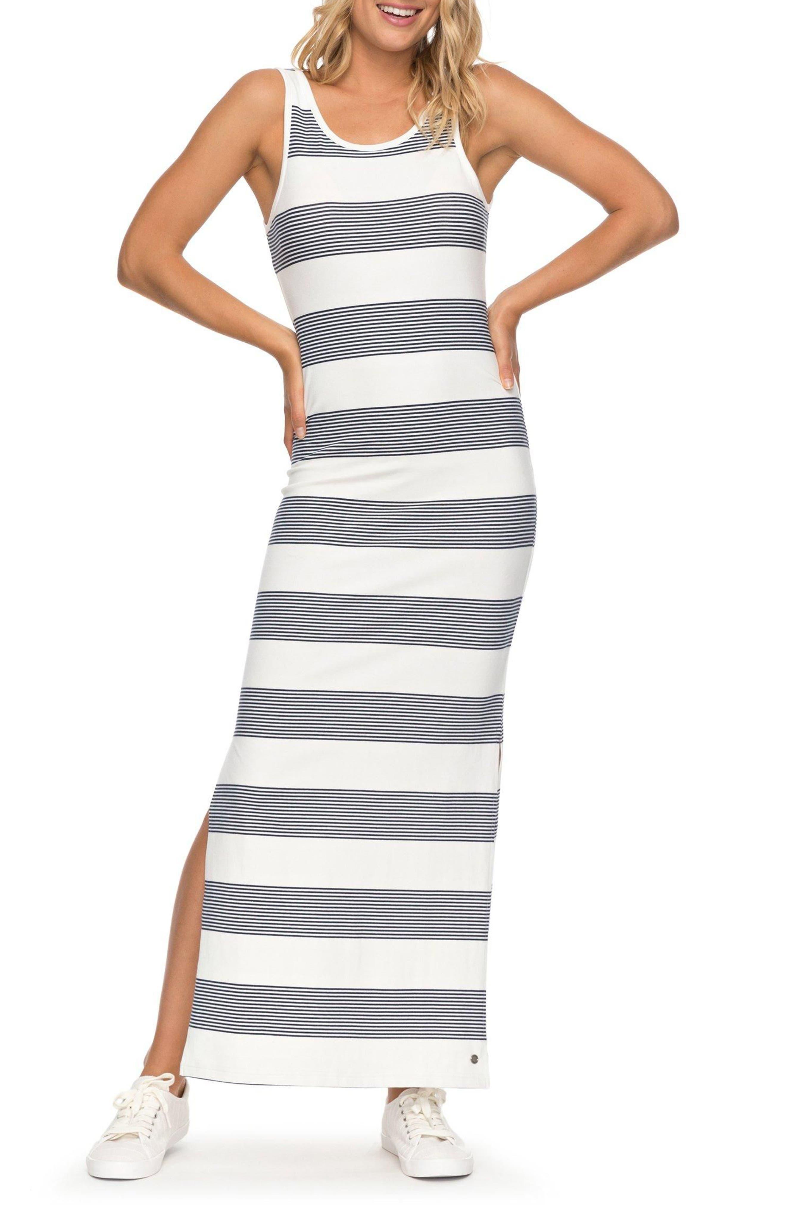 Tuba Stripe Tank Dress,                             Main thumbnail 1, color,                             Marshmallow Dress Blue Docker