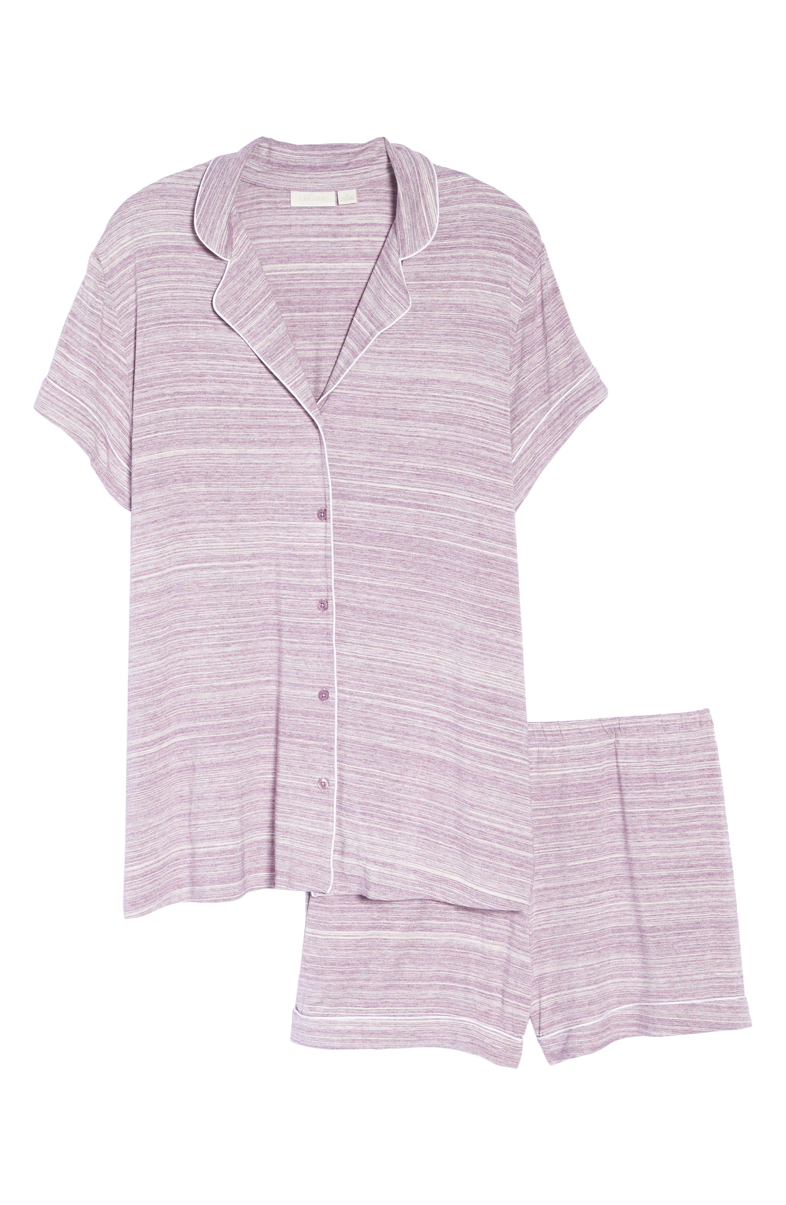 'Moonlight' Short Pajamas,                             Alternate thumbnail 6, color,                             Purple Spacedye