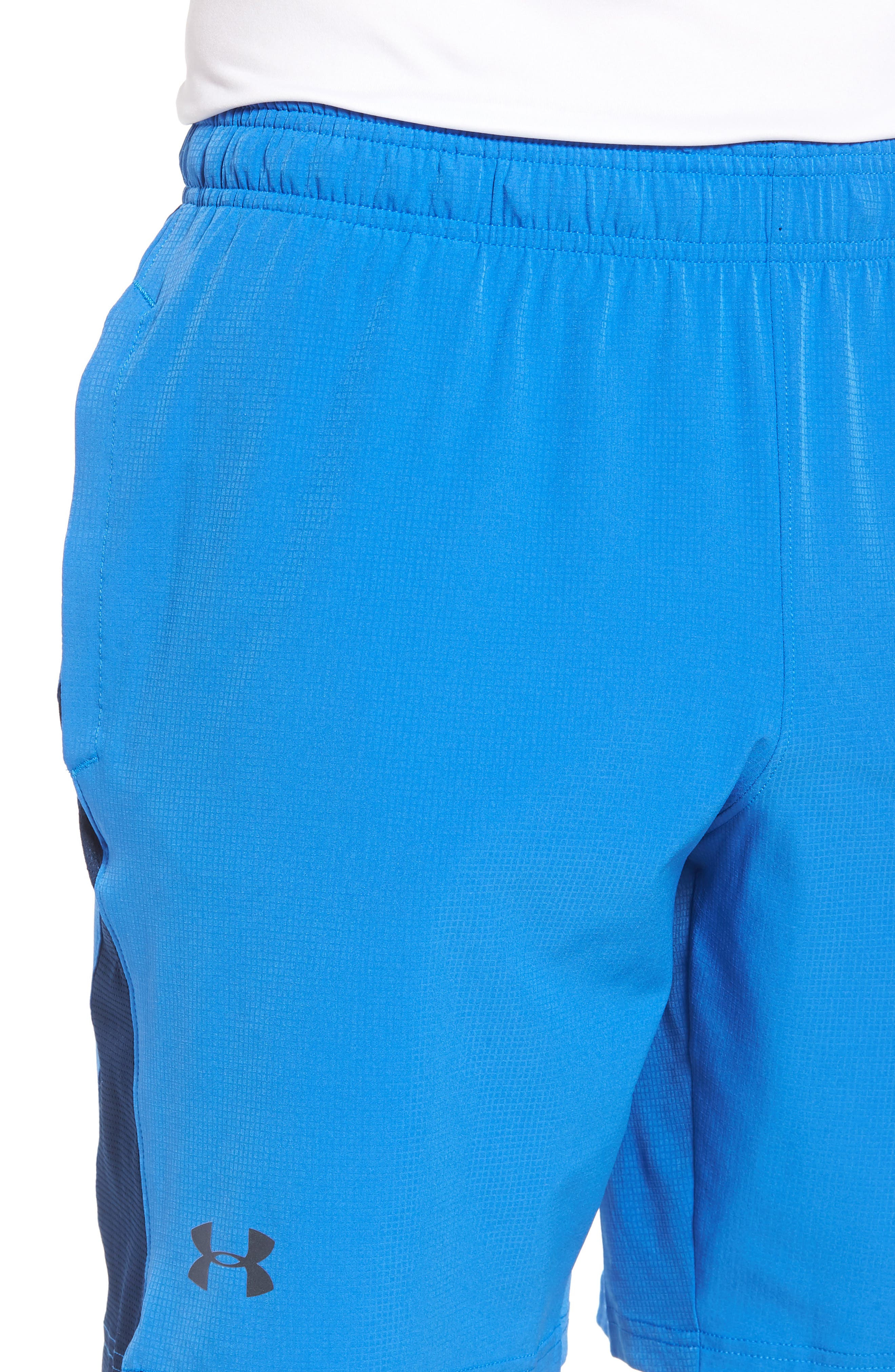 Regular Fit Cage Shorts,                             Alternate thumbnail 4, color,                             Mediterranean/ Graphite