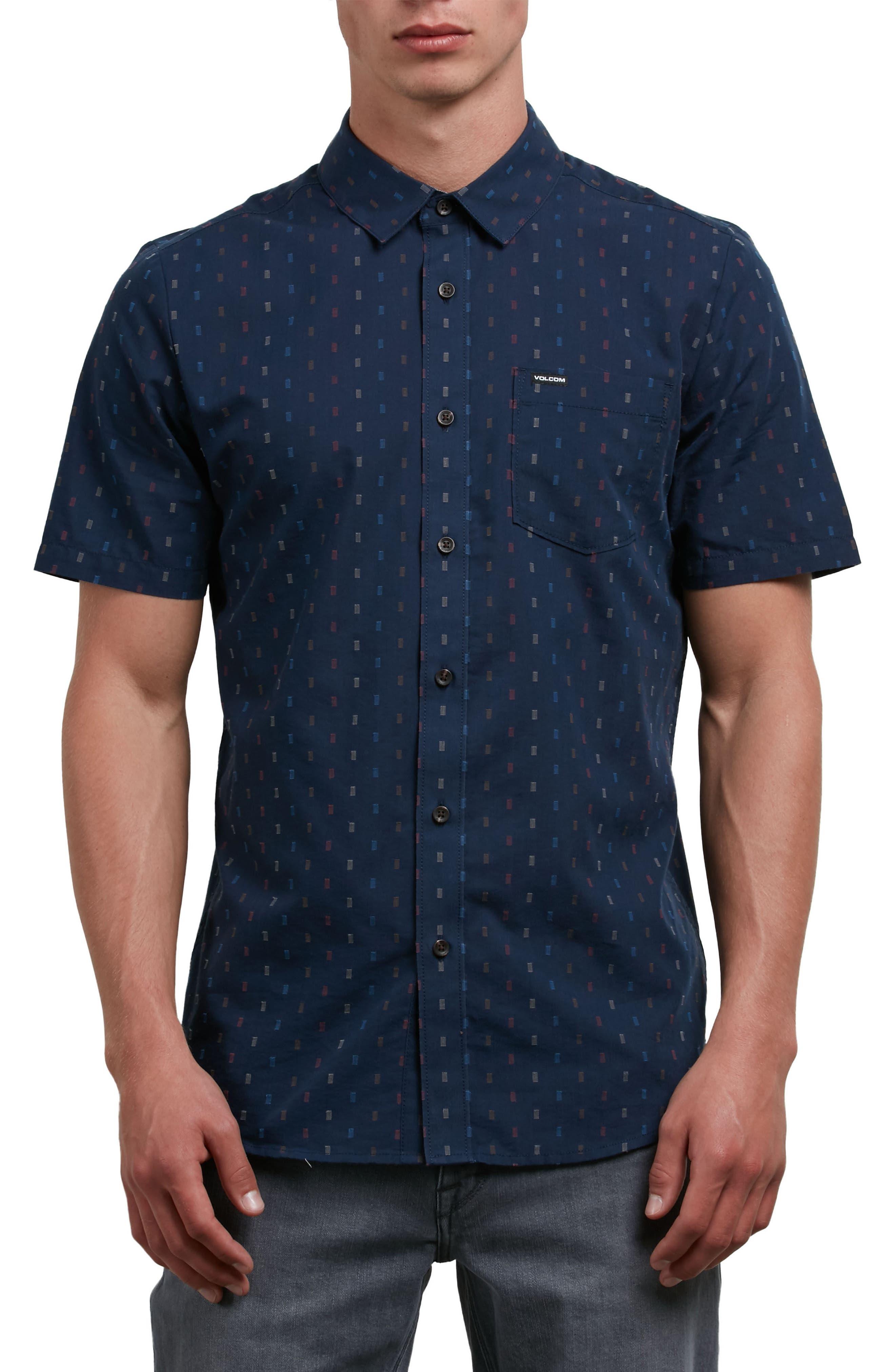 Rollins Woven Shirt,                         Main,                         color, Indigo